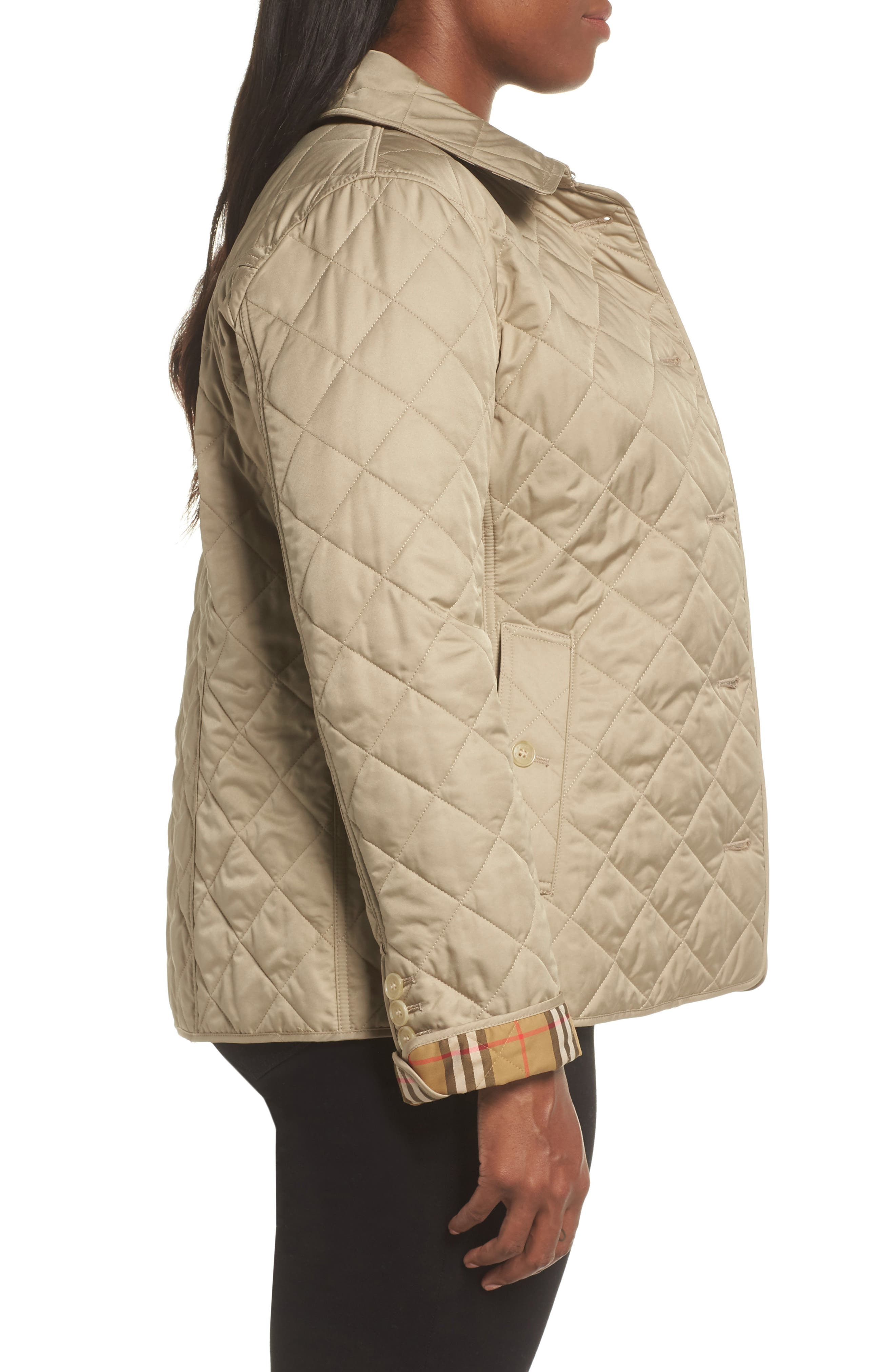 Frankby 18 Quilted Jacket,                             Alternate thumbnail 8, color,                             CANVAS