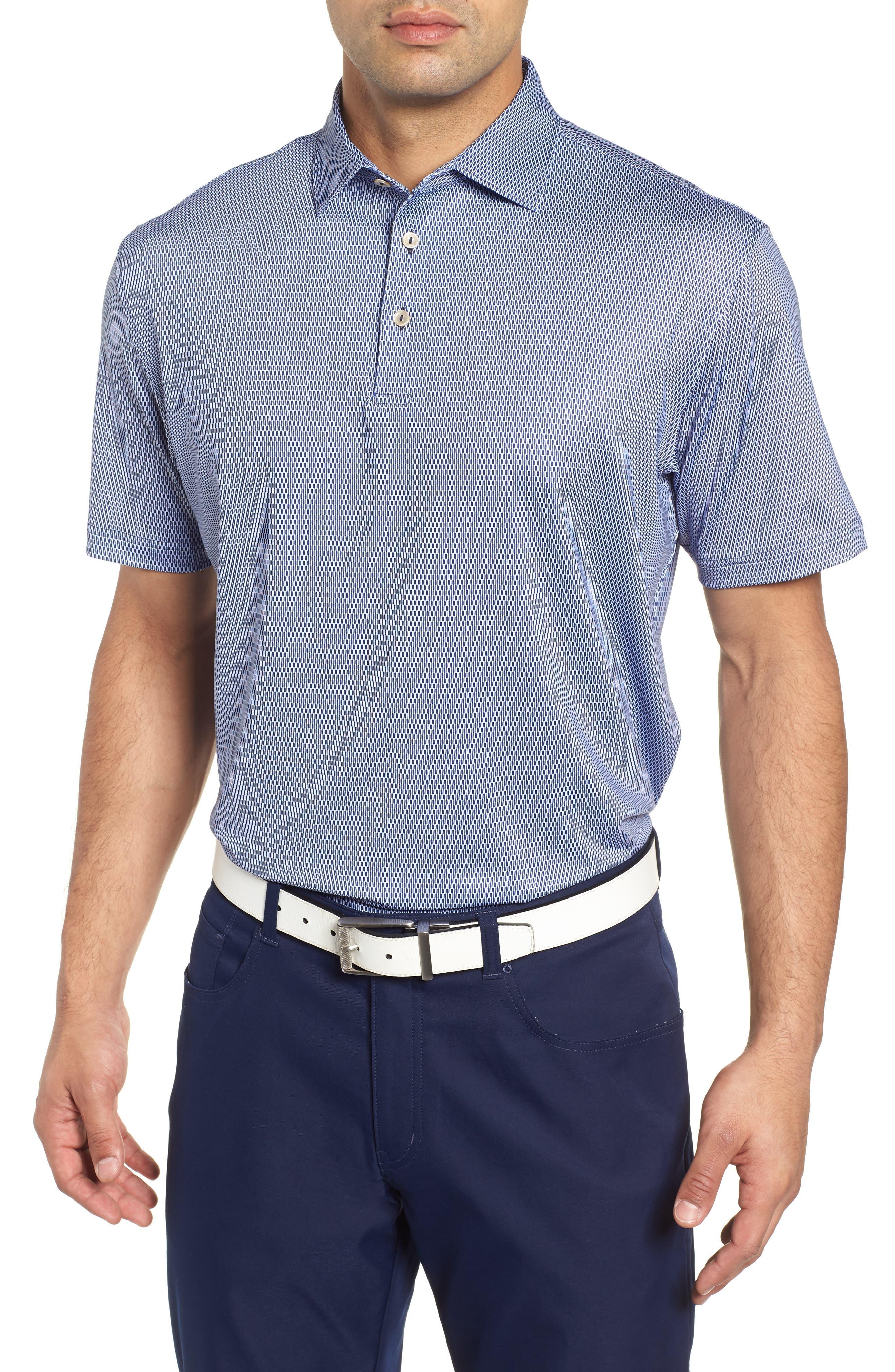 Latimer Classic Fit Links Print Golf Polo,                             Main thumbnail 1, color,                             410