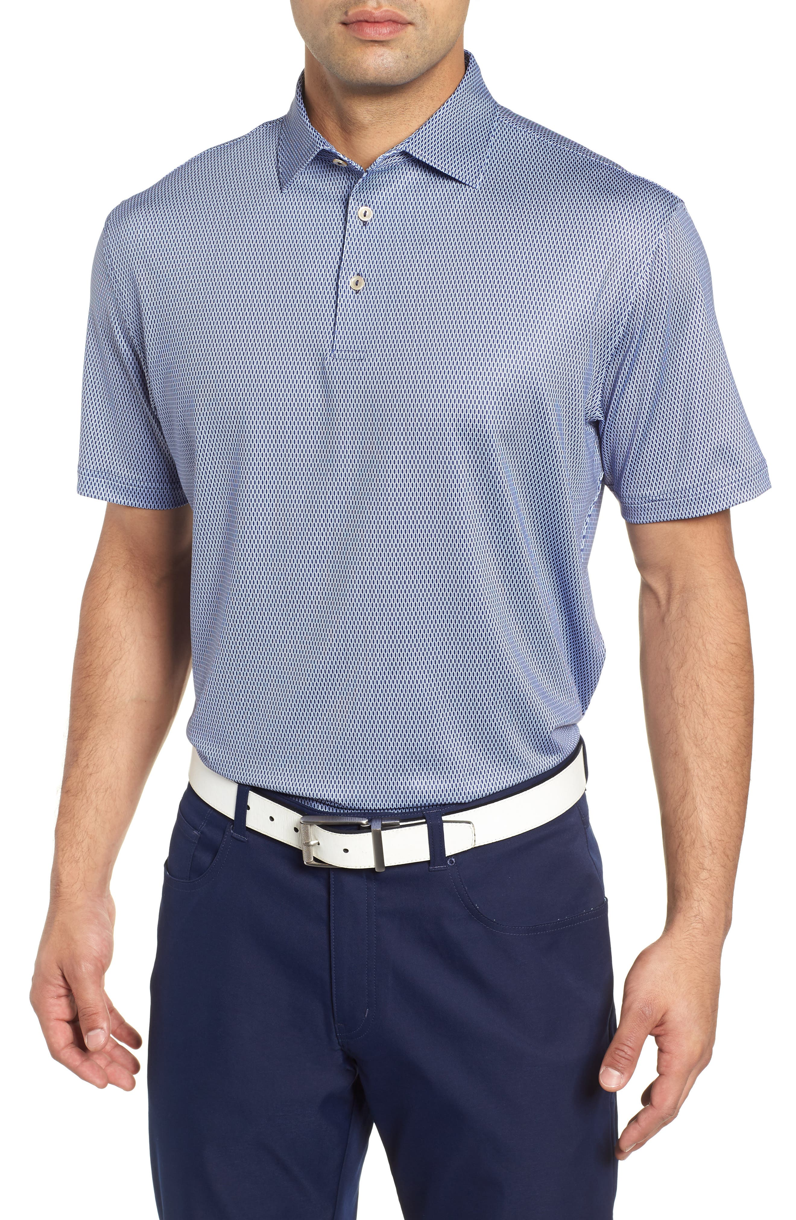 Latimer Classic Fit Links Print Golf Polo,                         Main,                         color, 410