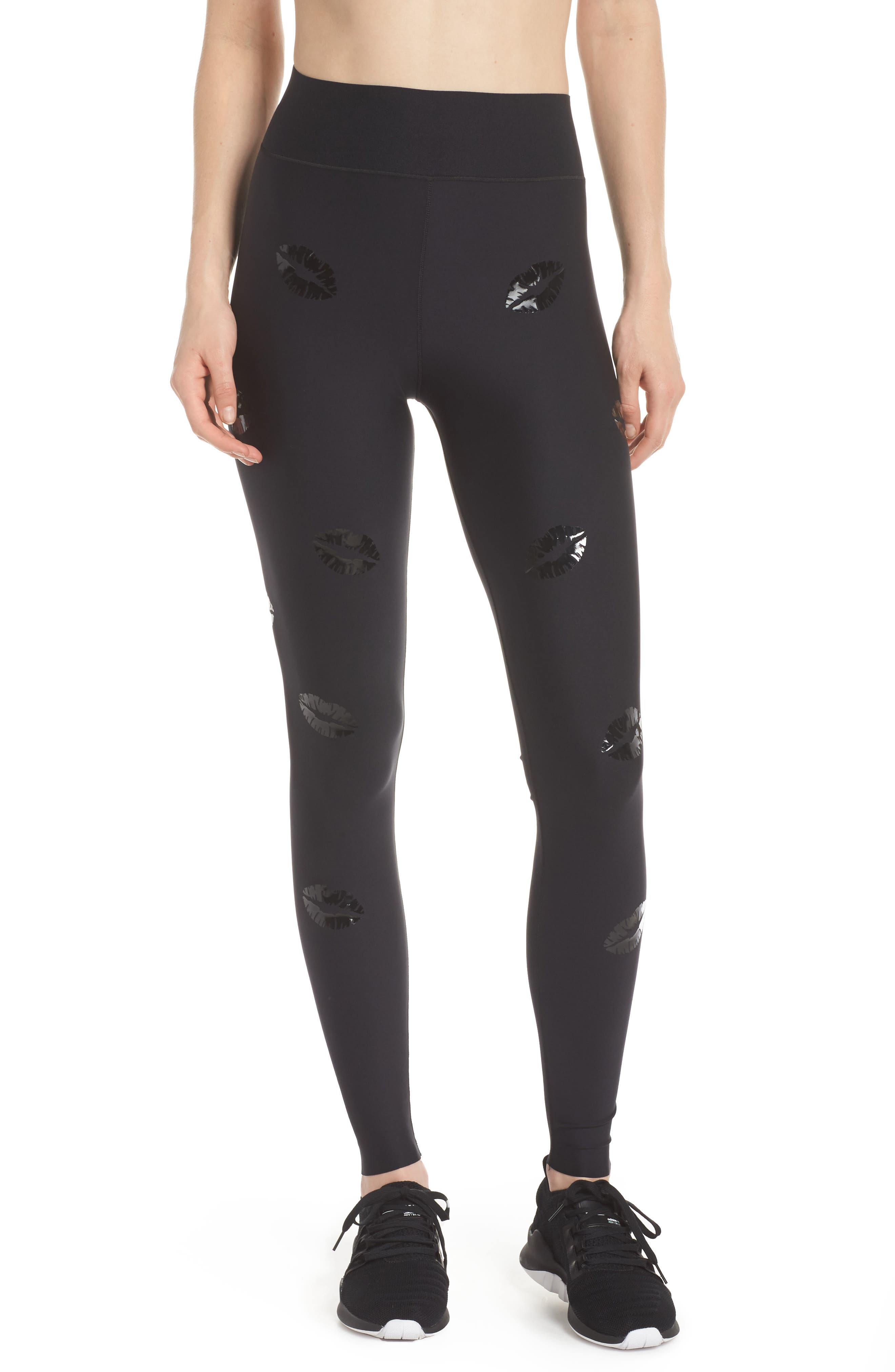 Make Out Lux High Waist Leggings,                             Main thumbnail 1, color,                             002