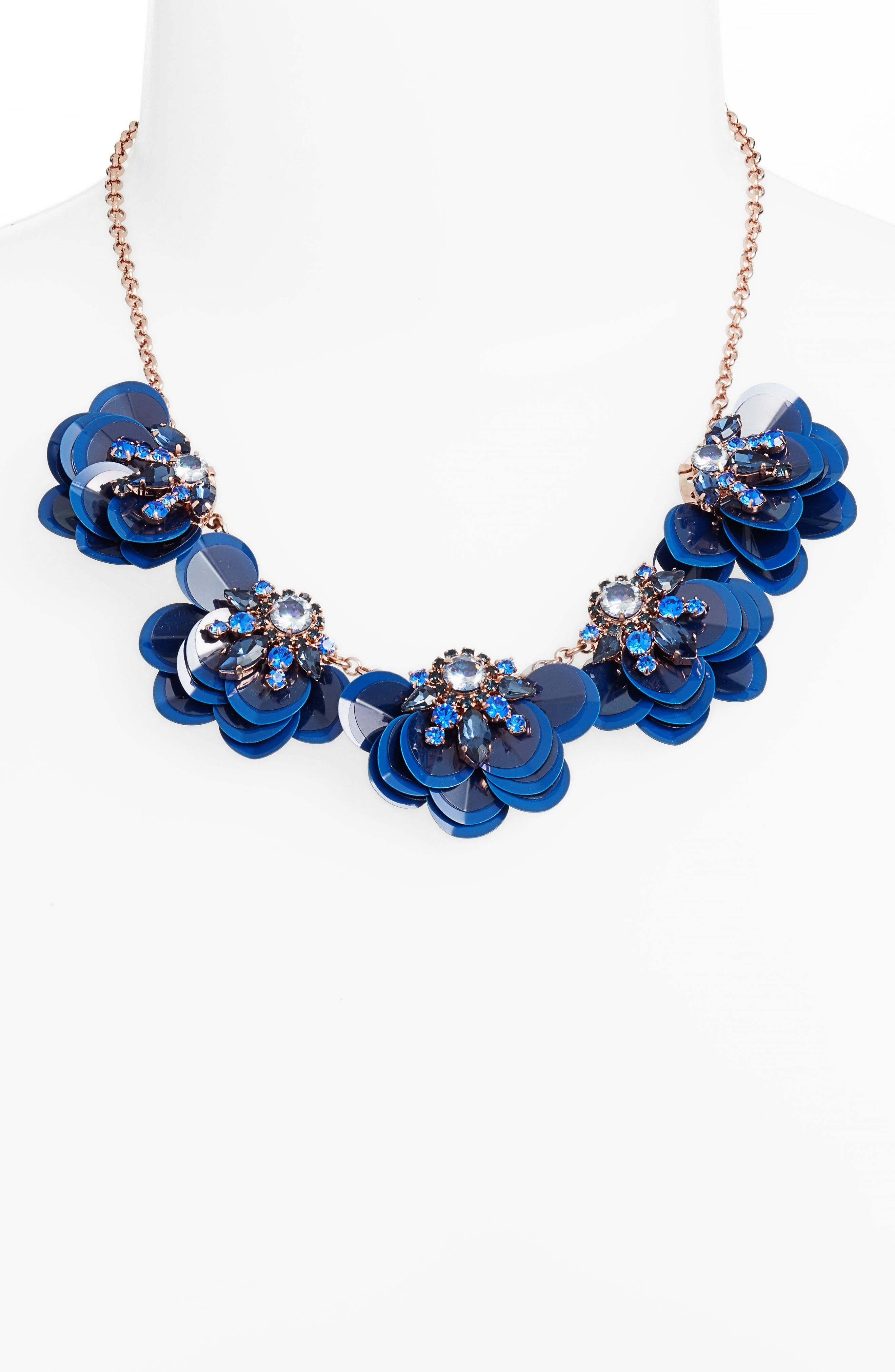 snowy nights sequin necklace,                             Alternate thumbnail 2, color,