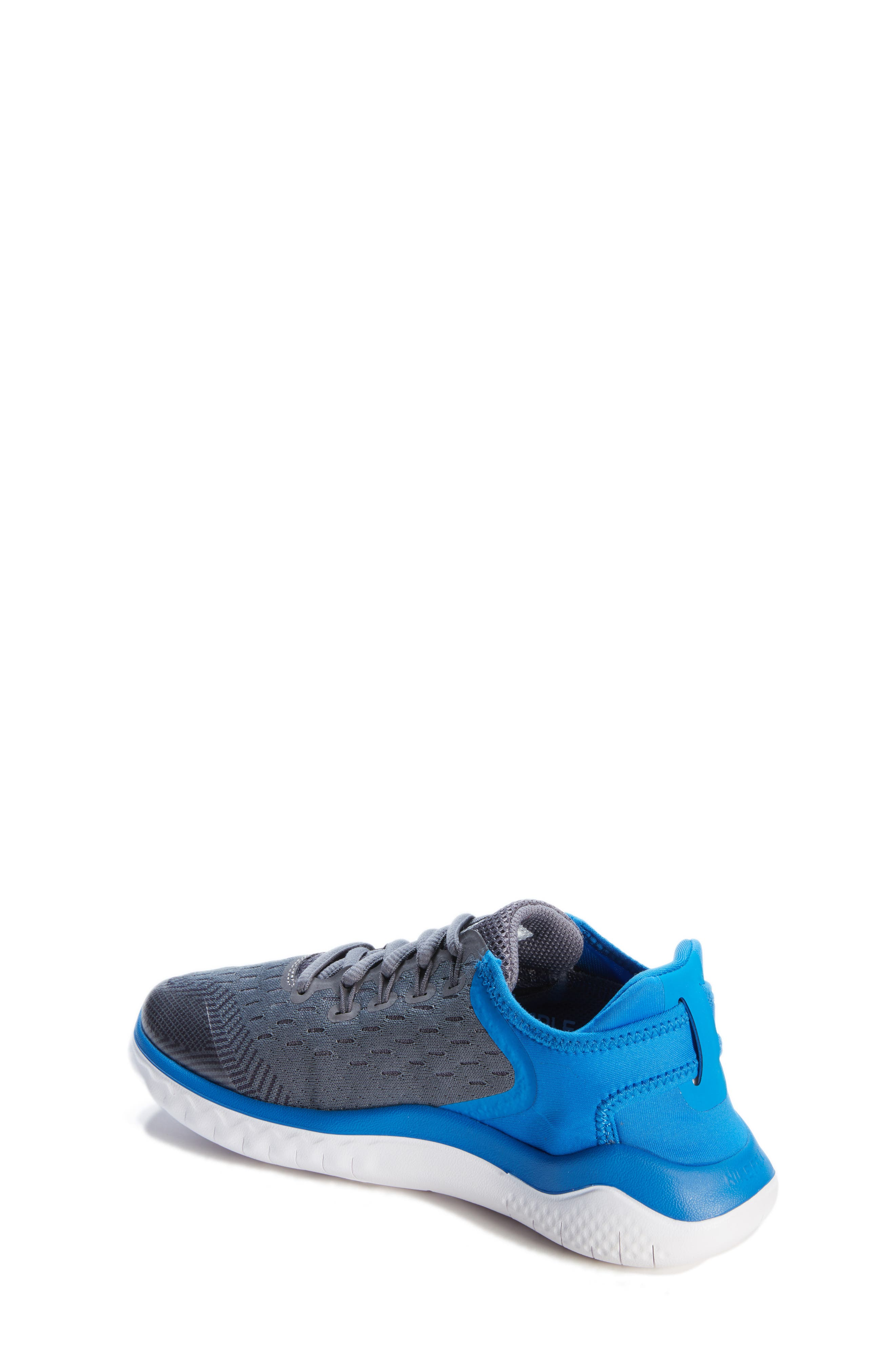 Free RN 2018 Running Shoe,                             Alternate thumbnail 2, color,                             GREY/WHITE/BLUE
