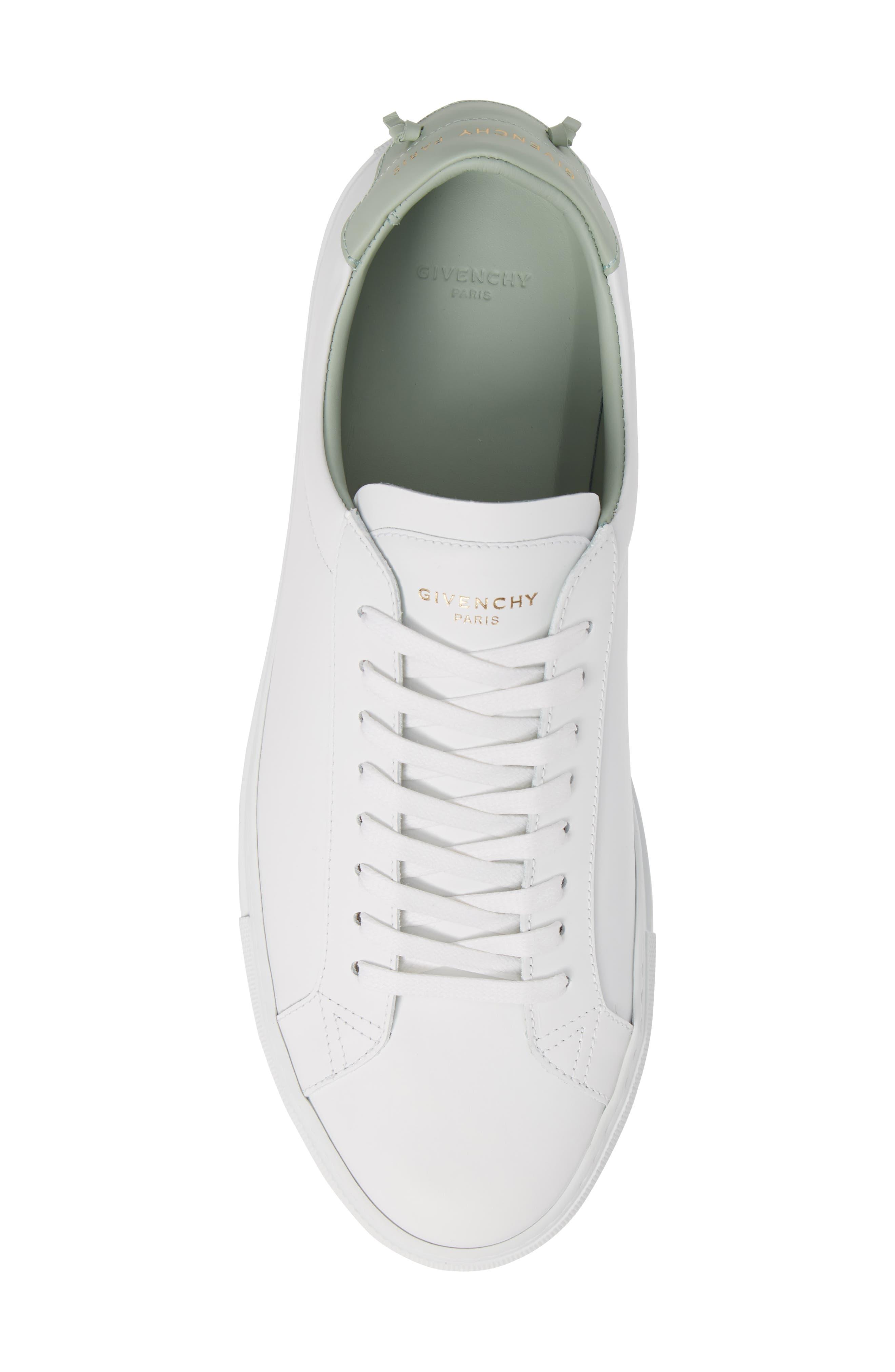 'Urban Knots Lo' Sneaker,                             Alternate thumbnail 5, color,                             WHITE/ GREEN