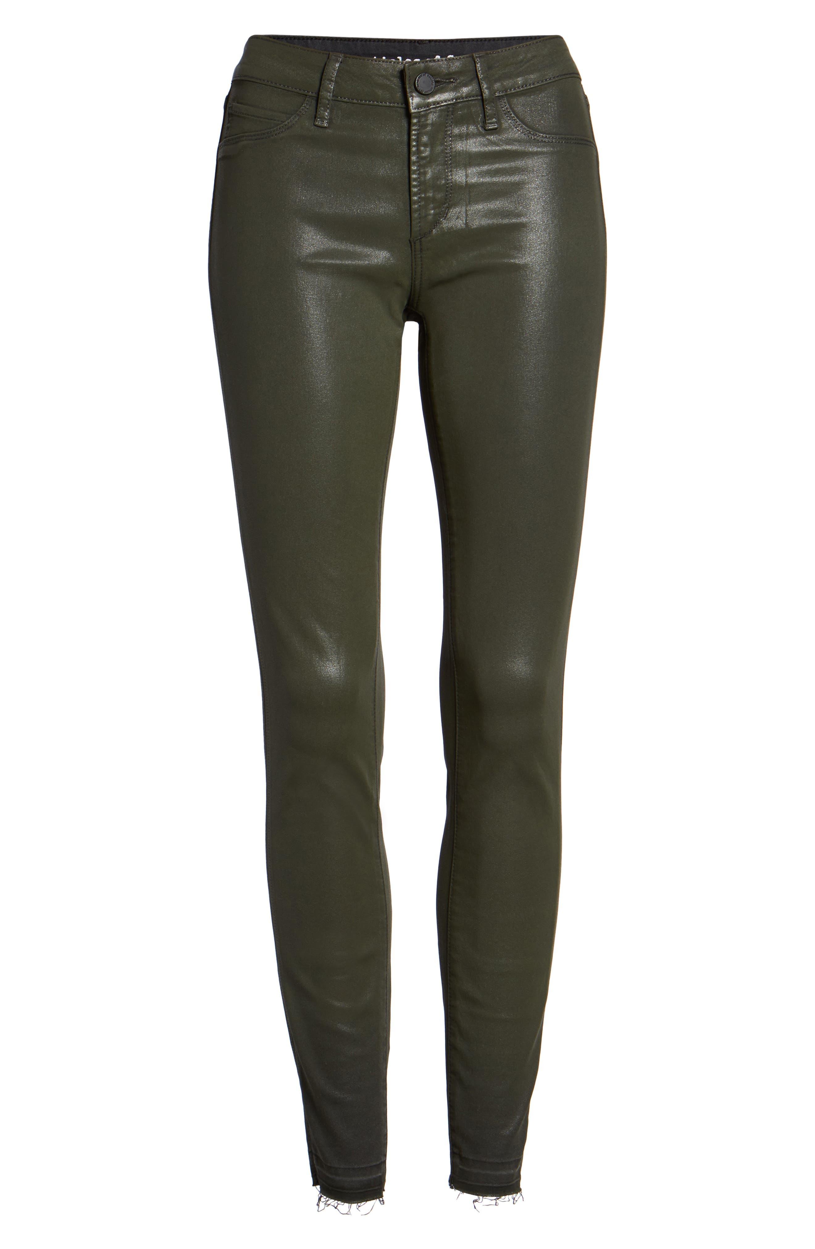 Sarah Coated Skinny Jeans,                             Alternate thumbnail 6, color,                             317