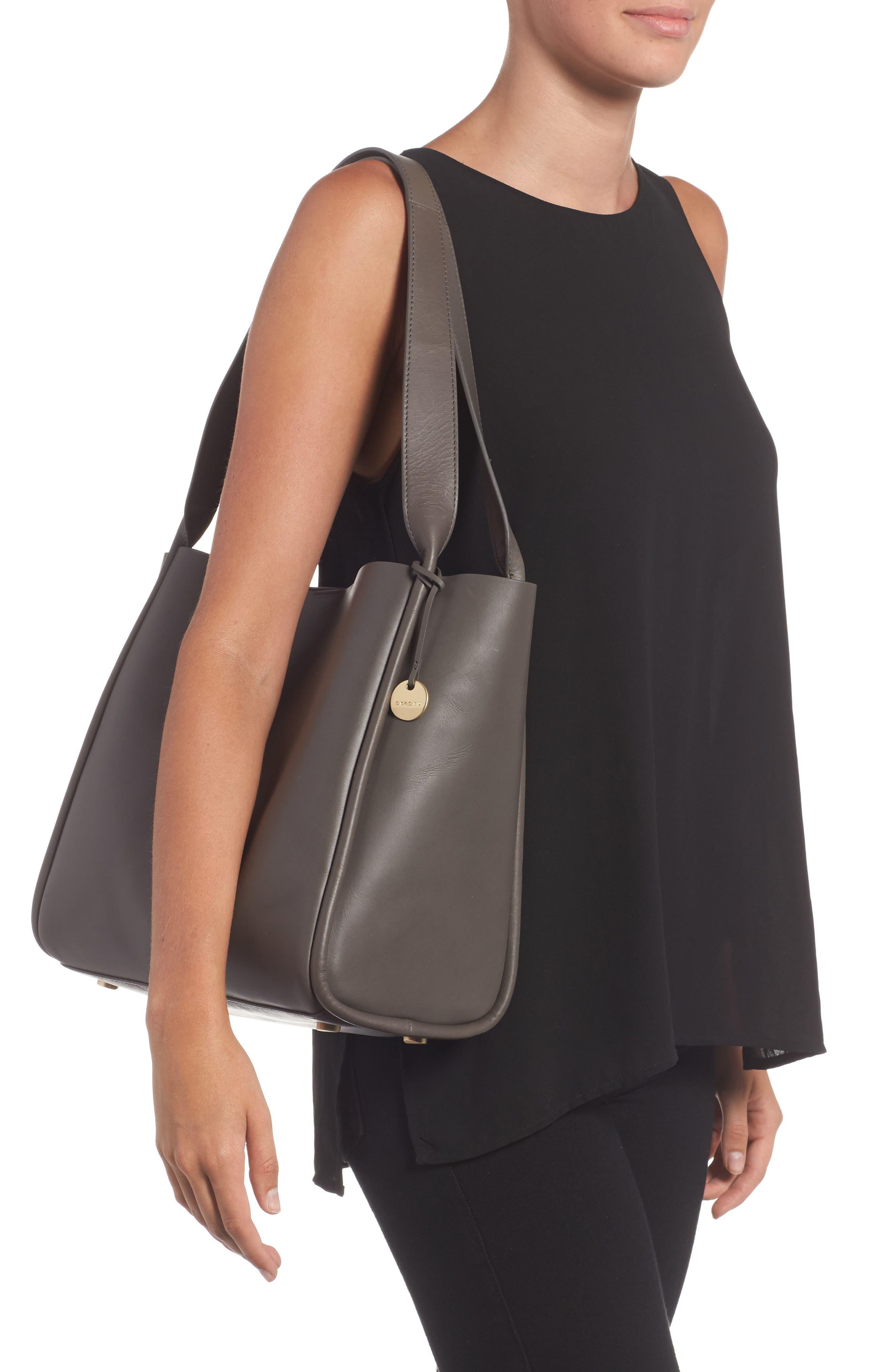 Karalie Leather Shoulder Bag,                             Alternate thumbnail 5, color,