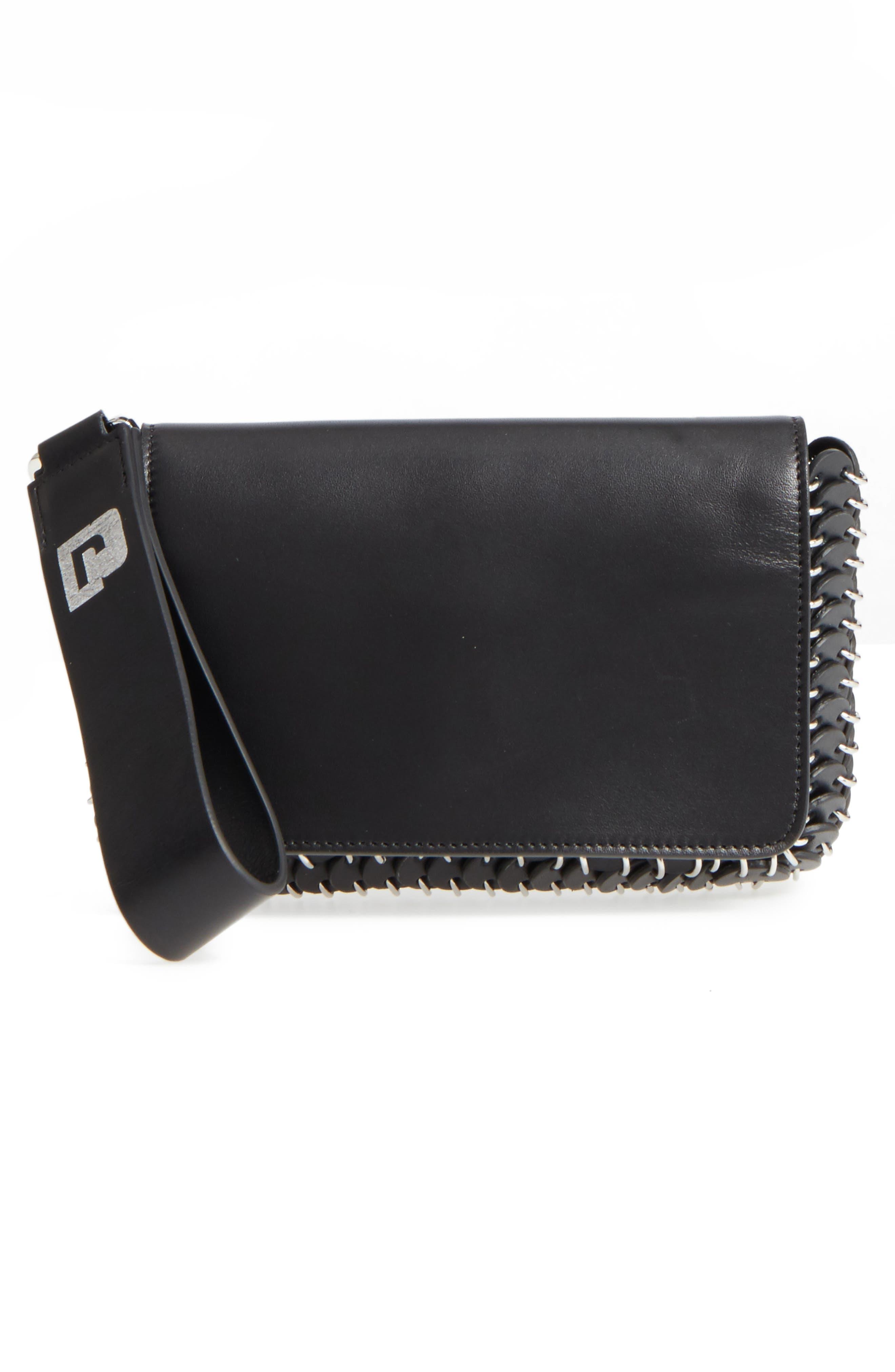 Mini Calfskin Shoulder Bag,                             Alternate thumbnail 3, color,                             BLACK