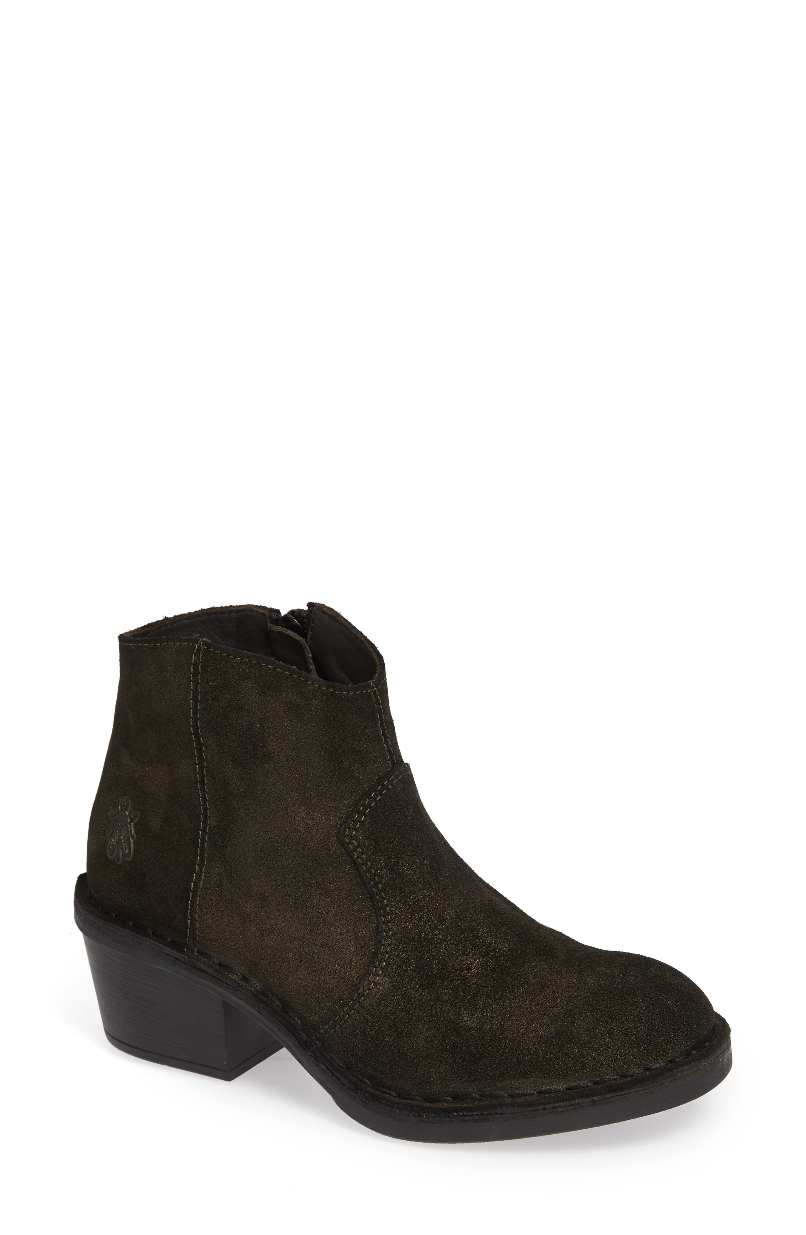 Dari Bootie,                             Main thumbnail 1, color,                             OLIVE SUEDE
