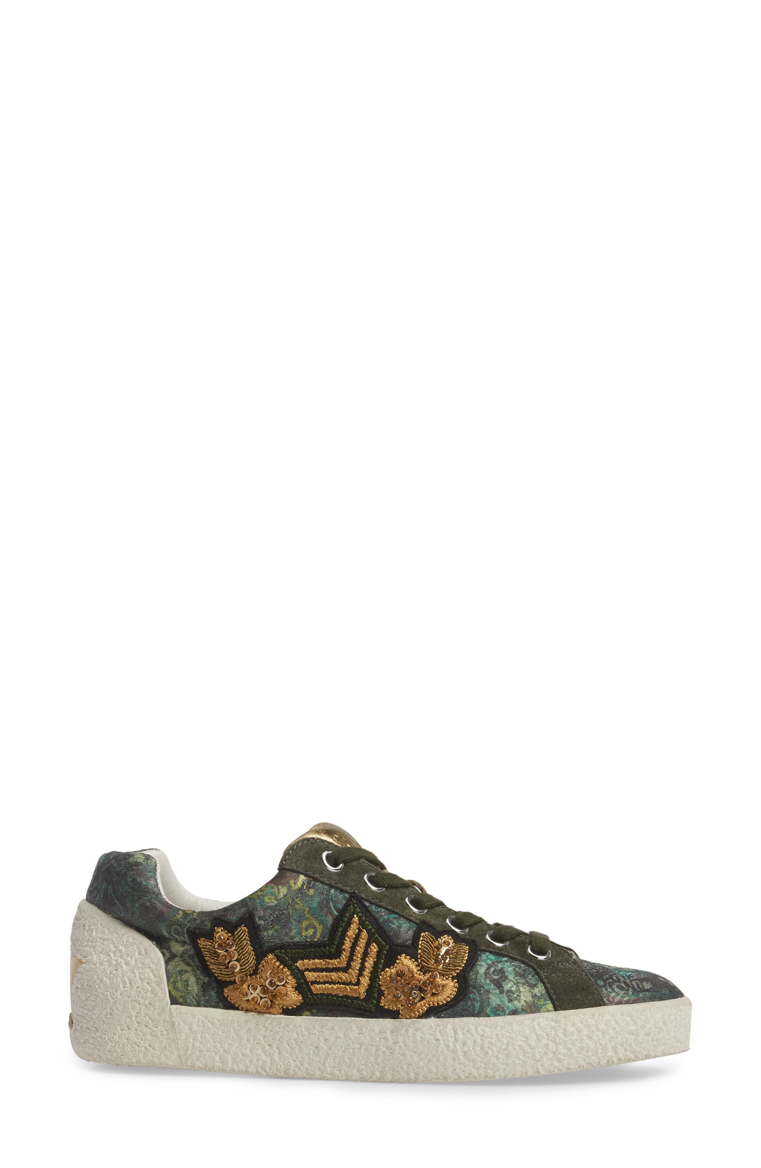 Embellished Low-Top Sneaker,                             Alternate thumbnail 3, color,                             312