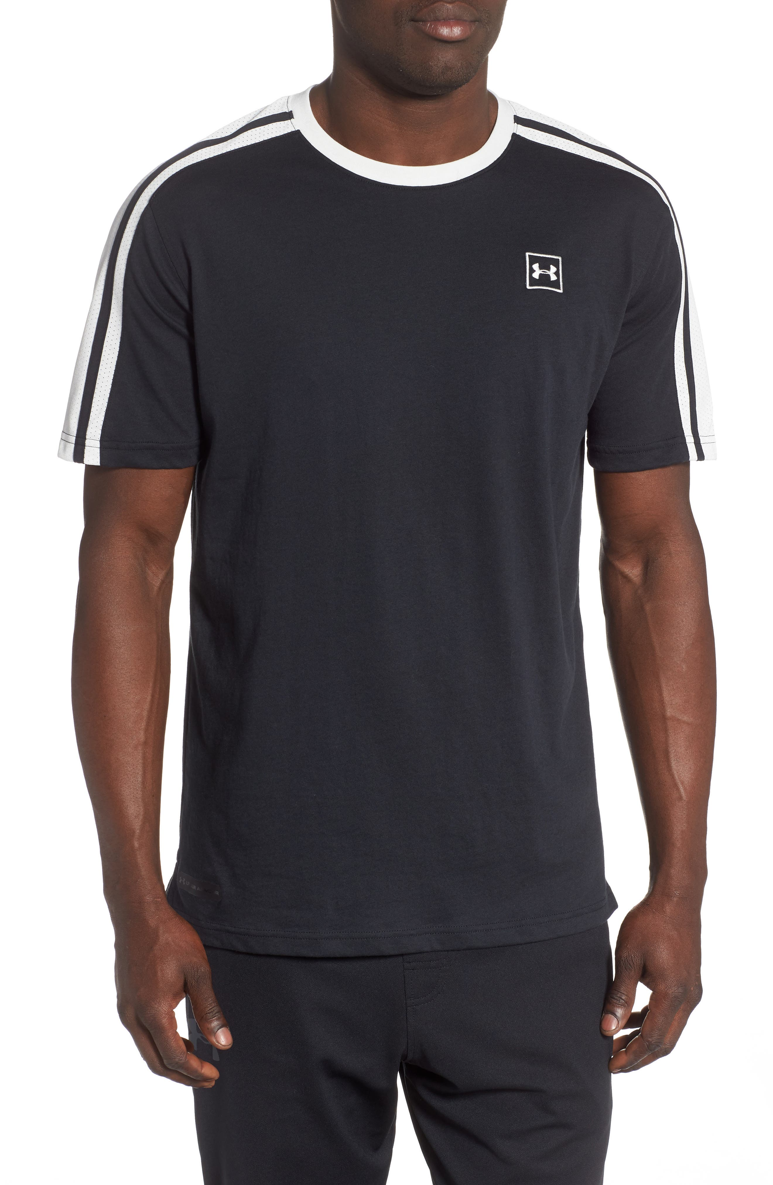 Under Armour Unstoppable Stripe T-Shirt, Black