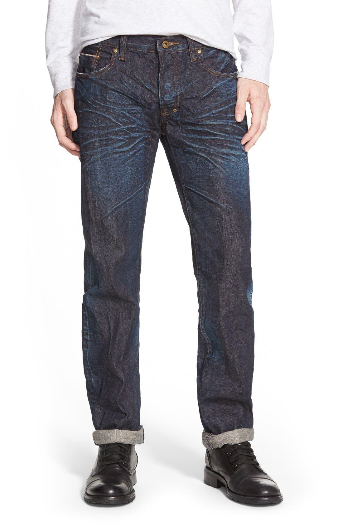 'Barracuda' Straight Leg Selvedge Jeans,                         Main,                         color,
