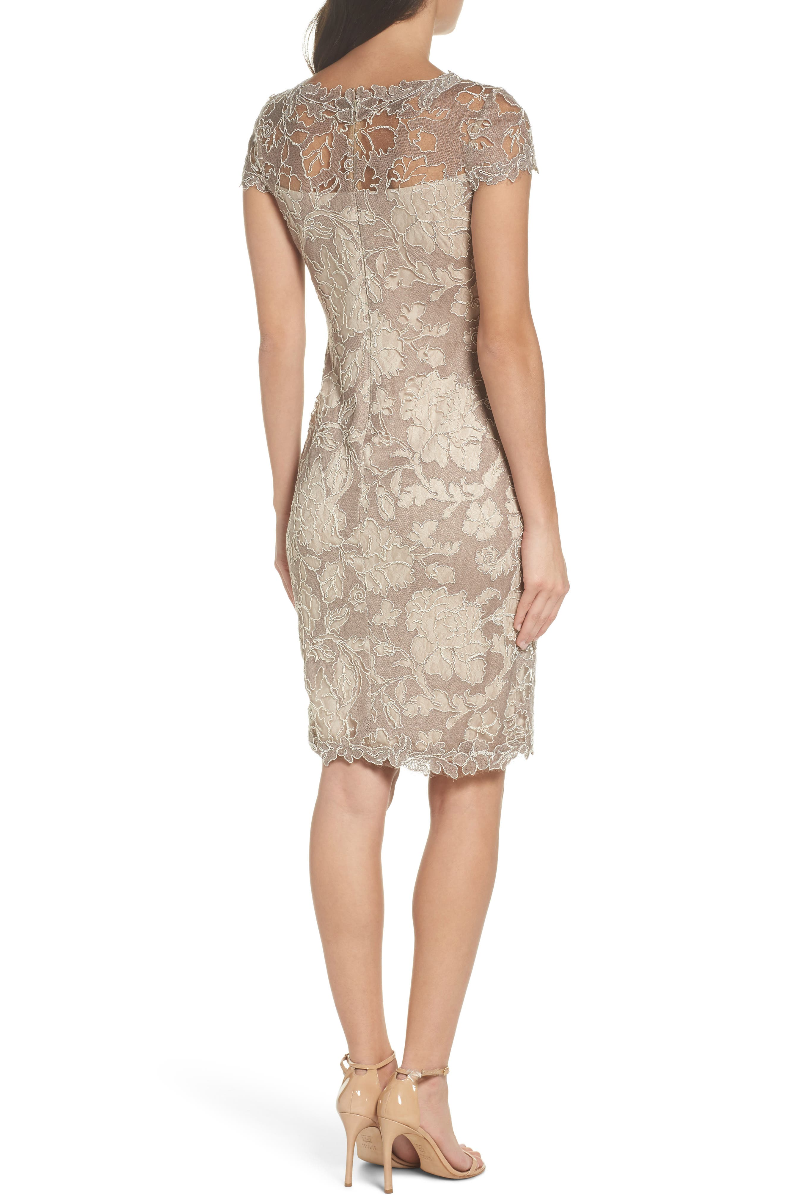 Embroidered Lace Sheath Dress,                             Alternate thumbnail 2, color,                             261