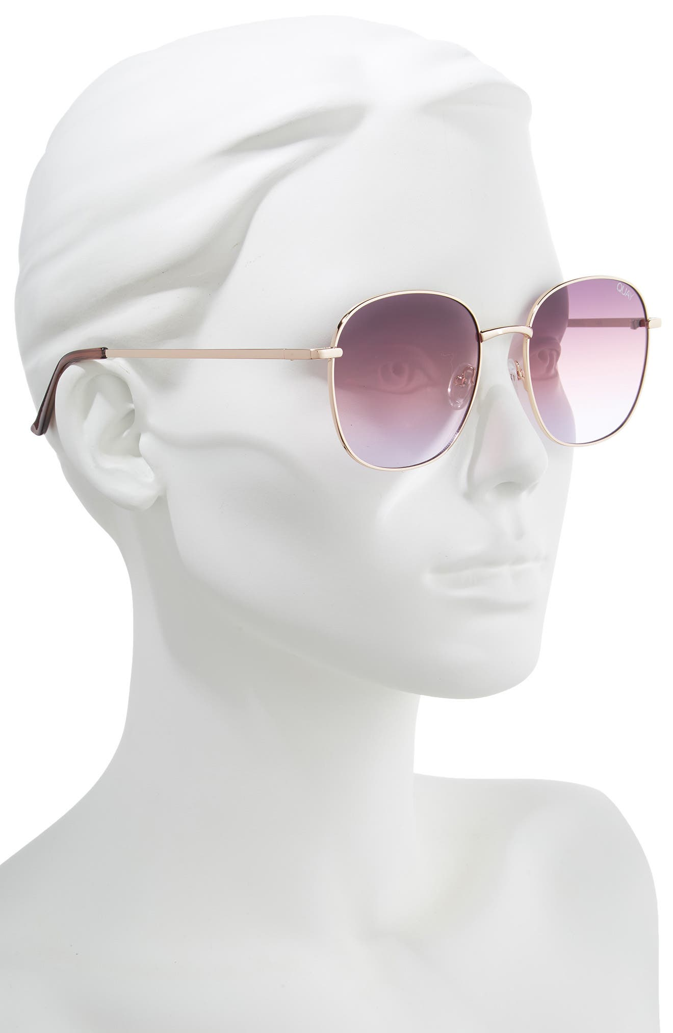 Jezabell 57mm Round Sunglasses,                             Alternate thumbnail 2, color,                             ROSE / PURPLE PINK FADE