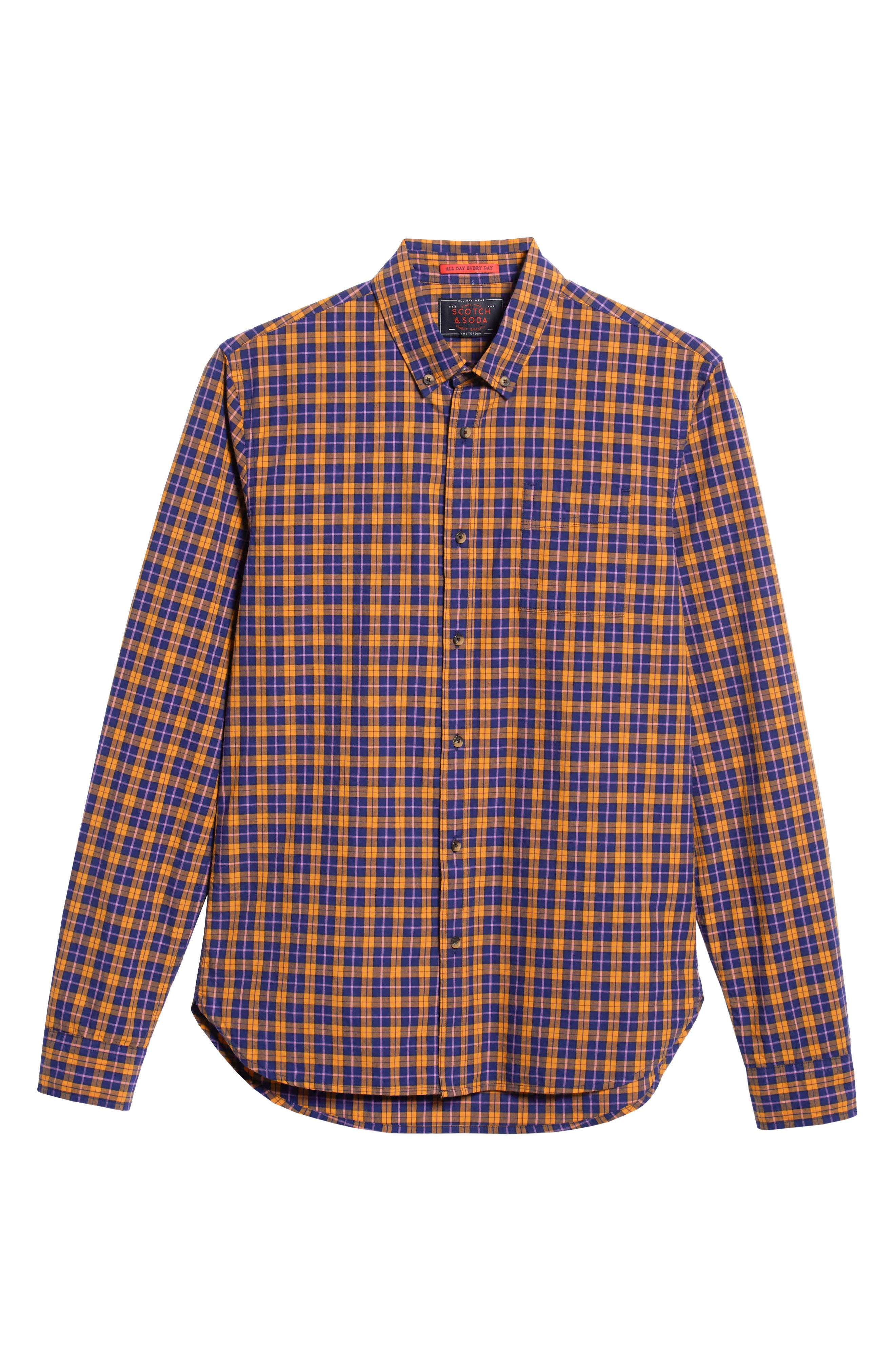 Check Sport Shirt,                             Alternate thumbnail 5, color,                             COMBO A