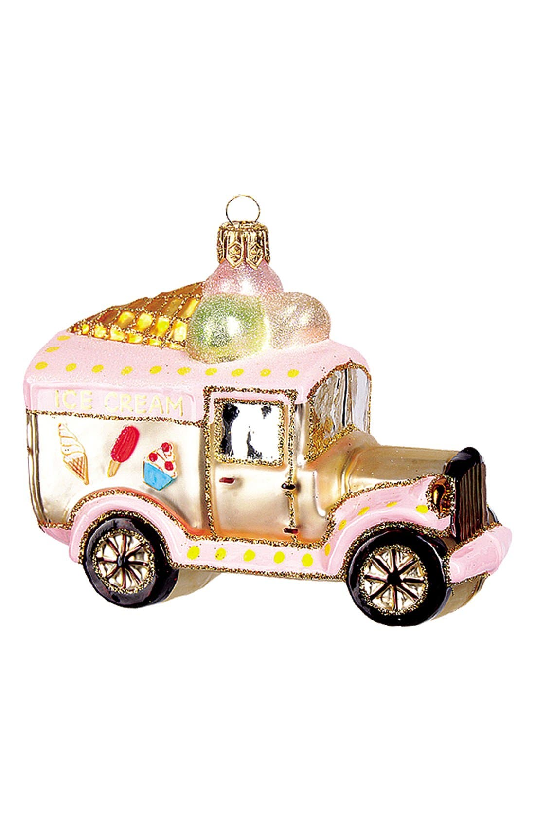 Ice Cream Truck Glass Ornament,                             Main thumbnail 1, color,                             680