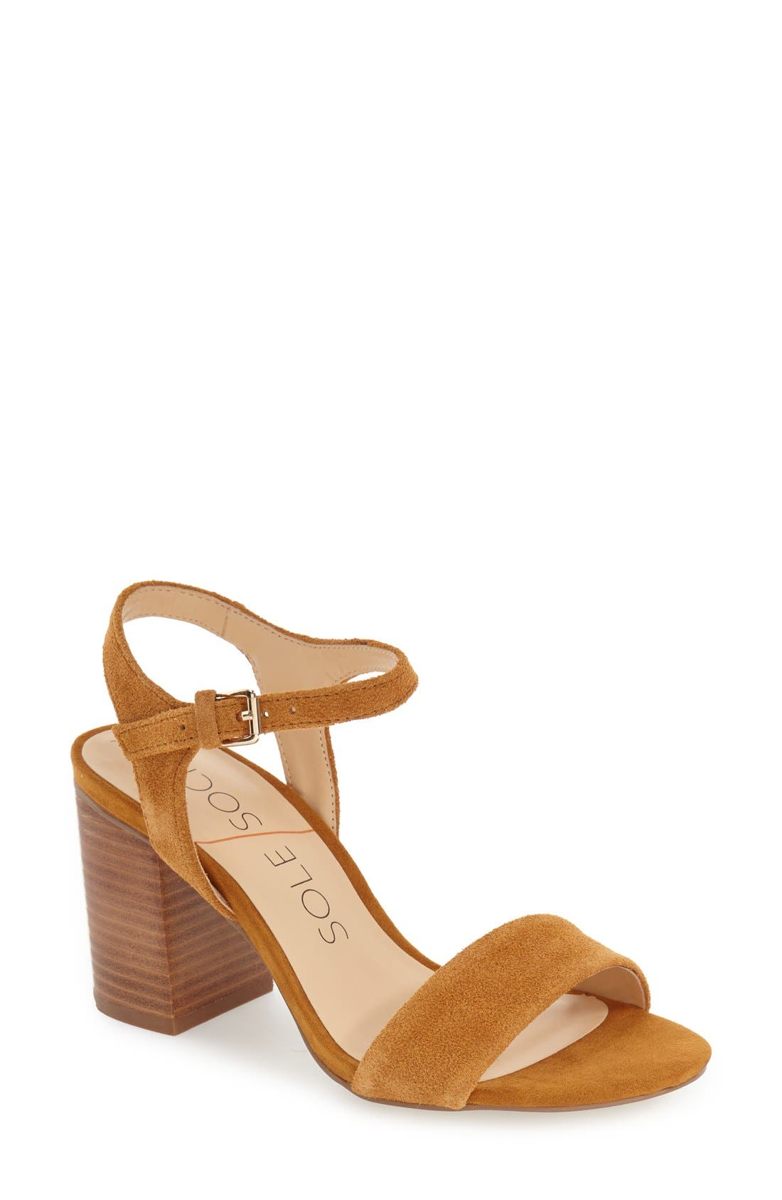 'Linny' Ankle Strap Sandal,                             Main thumbnail 4, color,