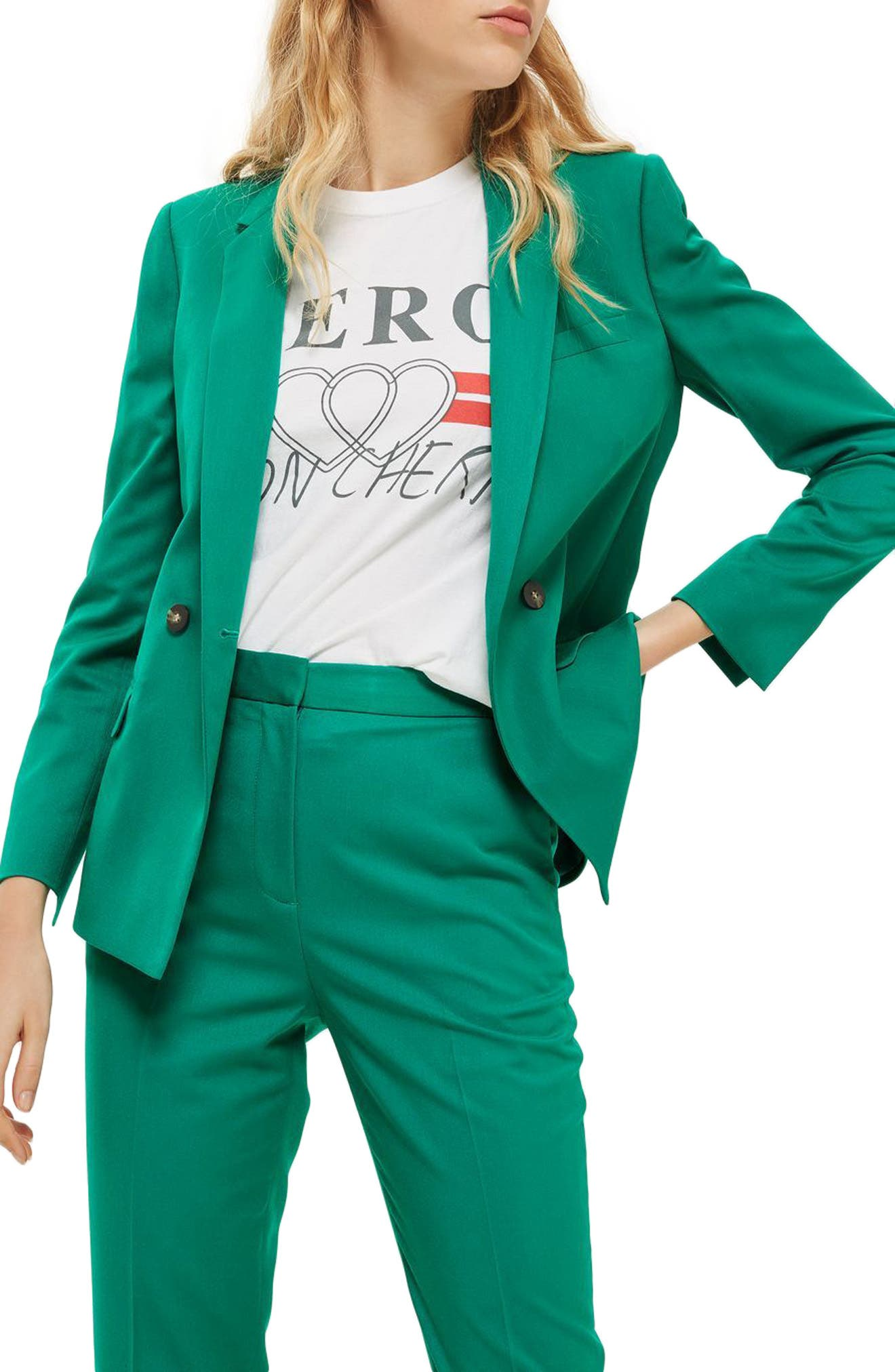 Double Breasted Suit Jacket,                             Main thumbnail 1, color,                             300