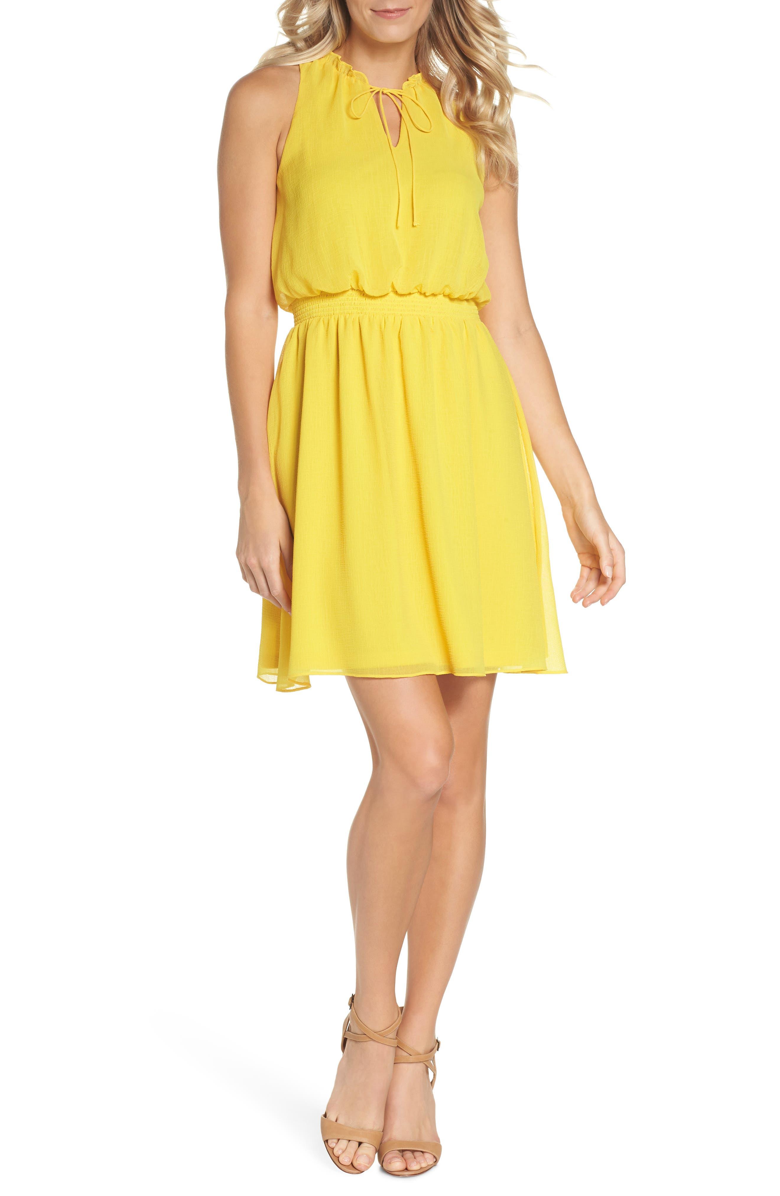 Sleeveless Chiffon Blouson Dress,                             Main thumbnail 1, color,                             724