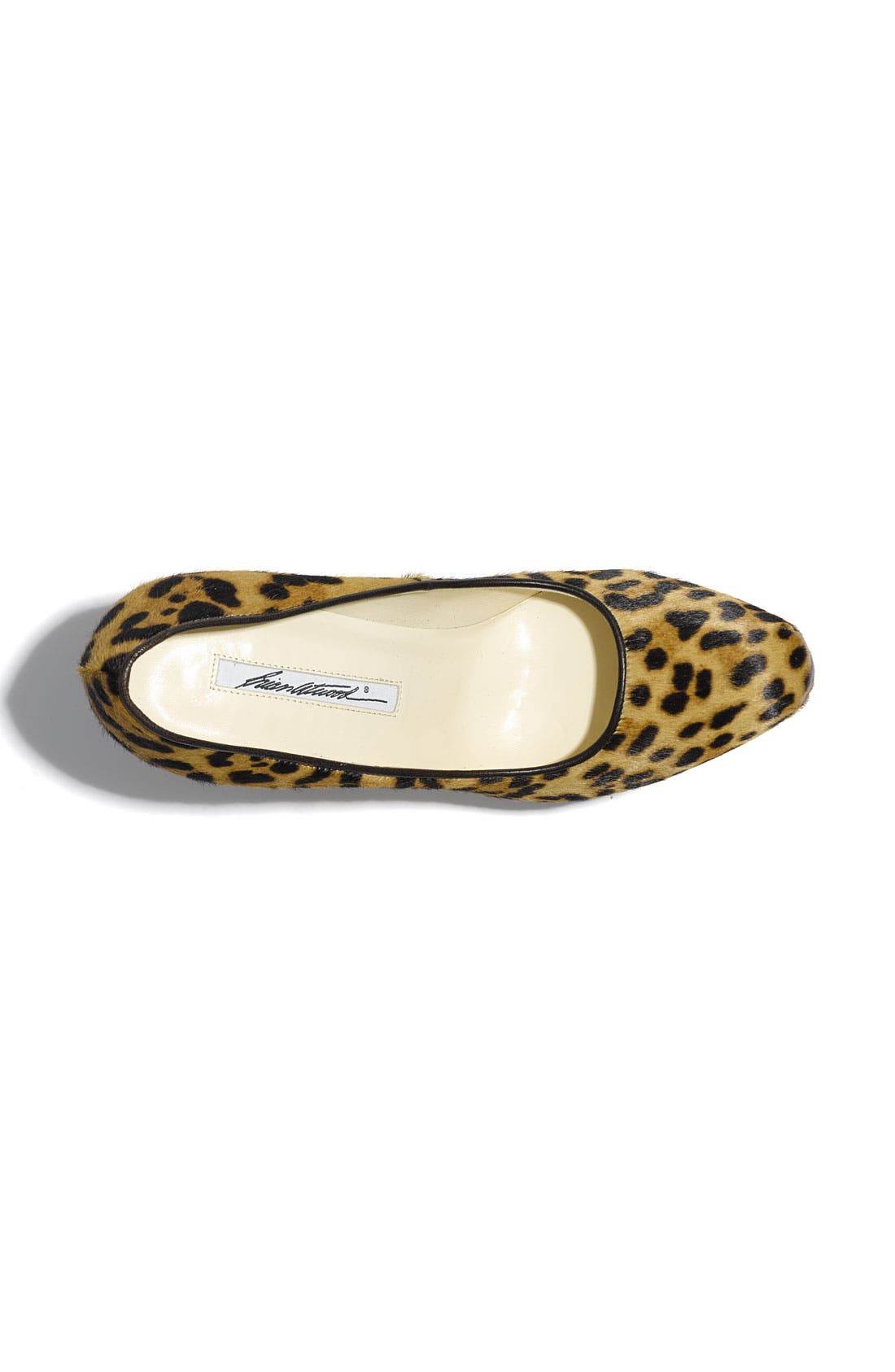 Leopard Print Calf Hair Platform Pump,                             Alternate thumbnail 3, color,