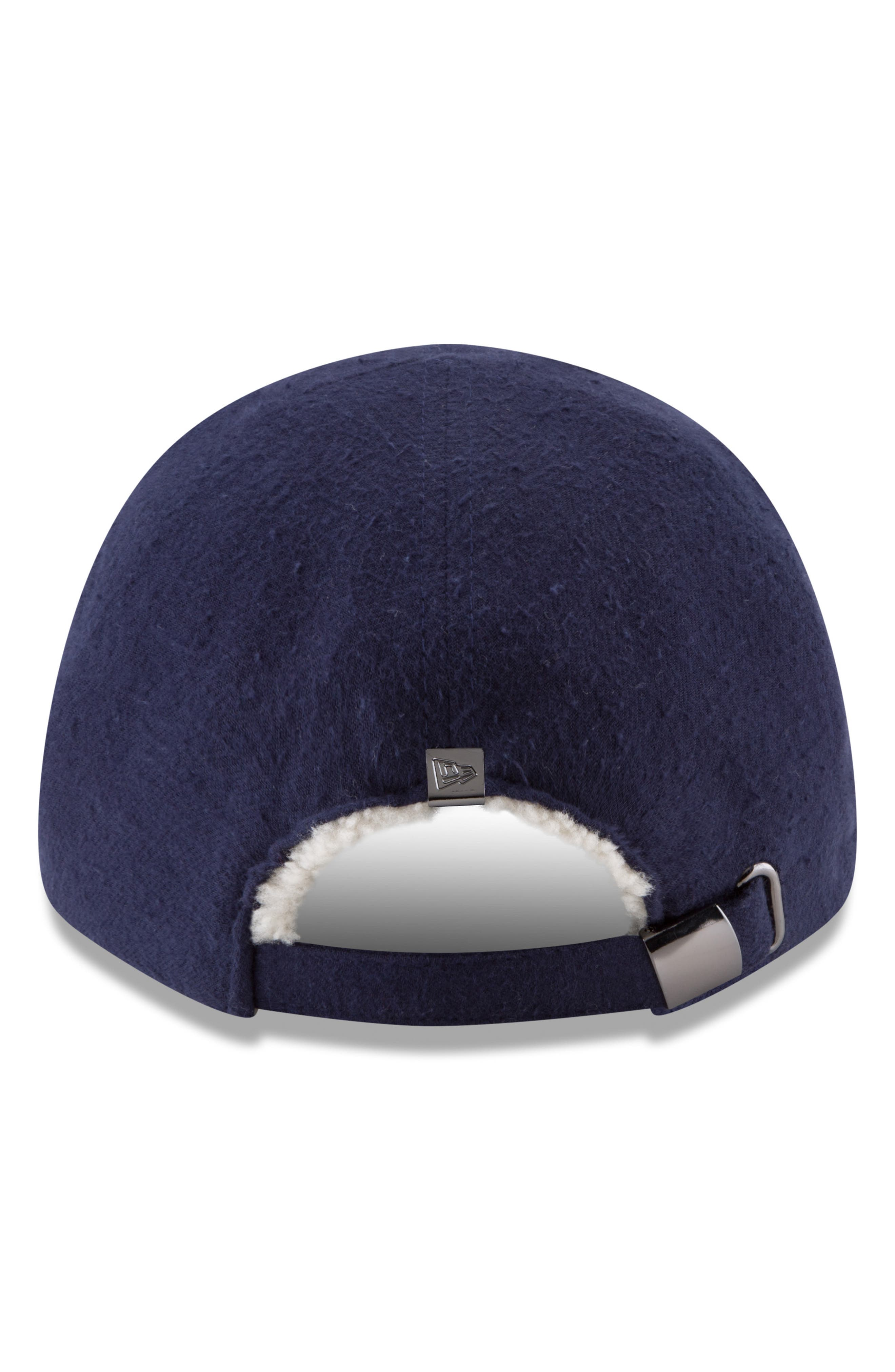 New Era 9Forty Fleece Baseball Cap,                             Alternate thumbnail 2, color,                             NAVY