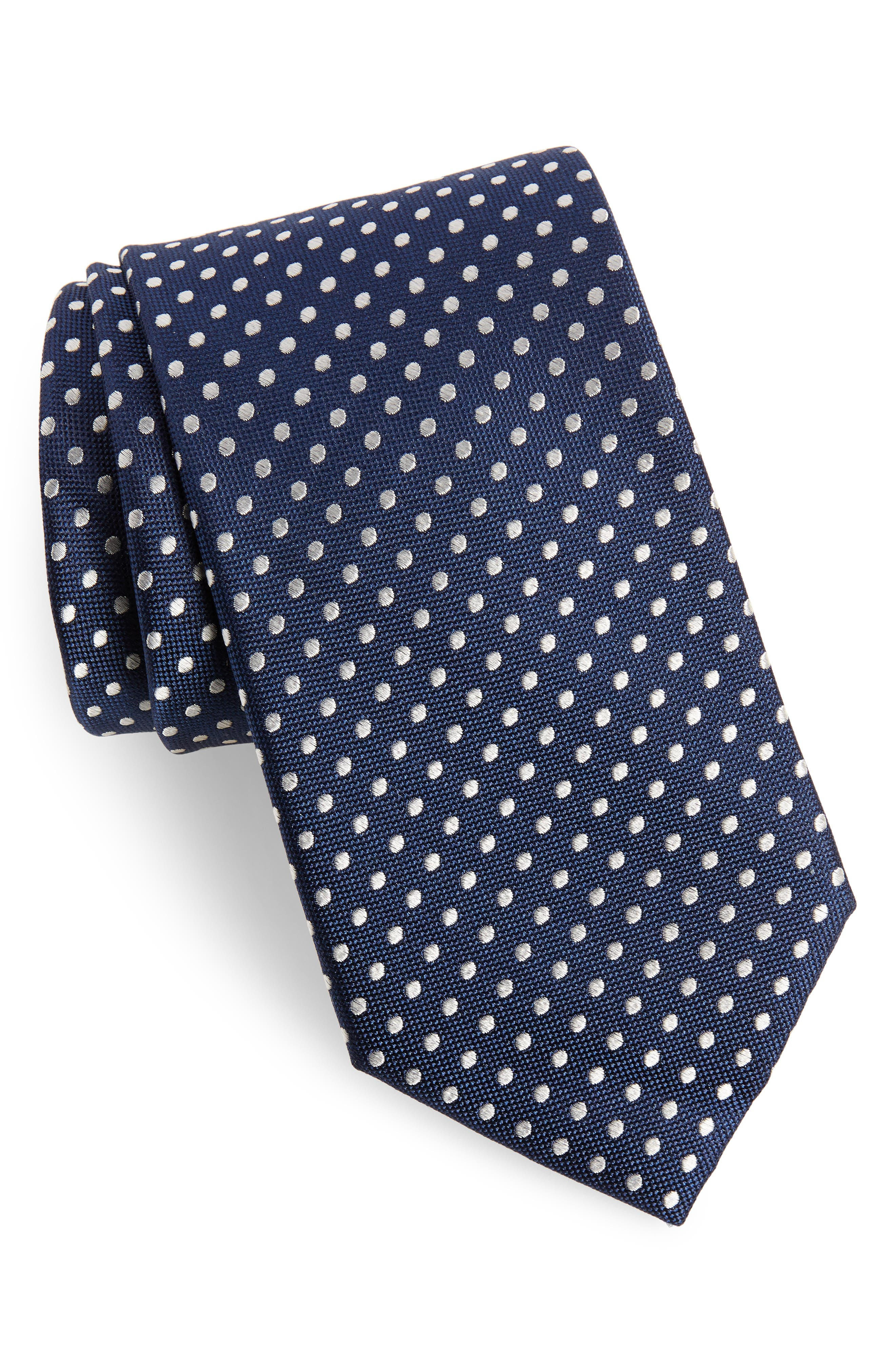 Norton Dot Silk Tie,                             Main thumbnail 1, color,                             413
