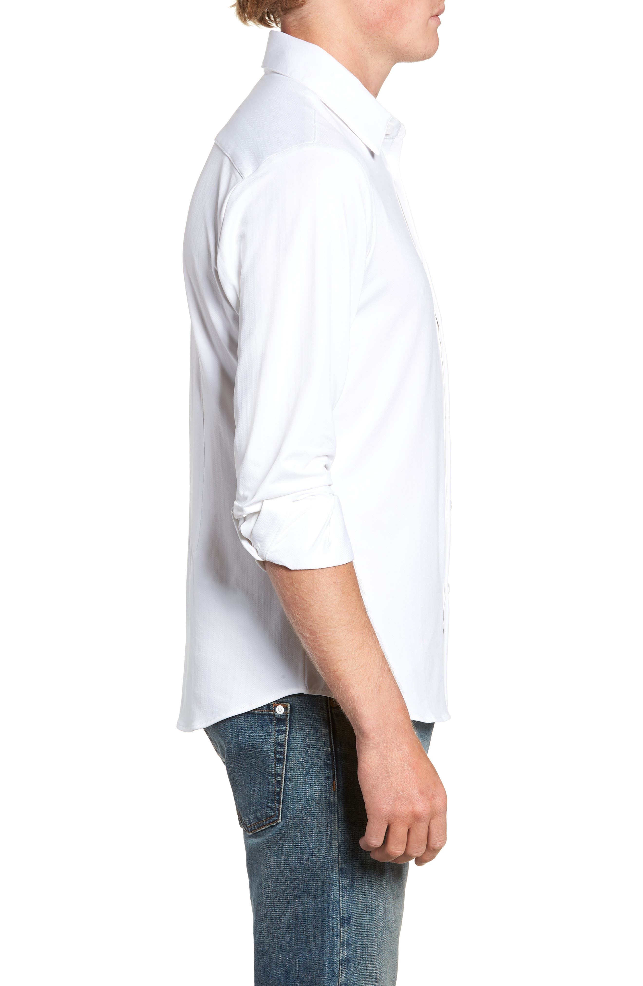 MIZZEN+MAIN,                             Parker Regular Fit Sport Shirt,                             Alternate thumbnail 4, color,                             100