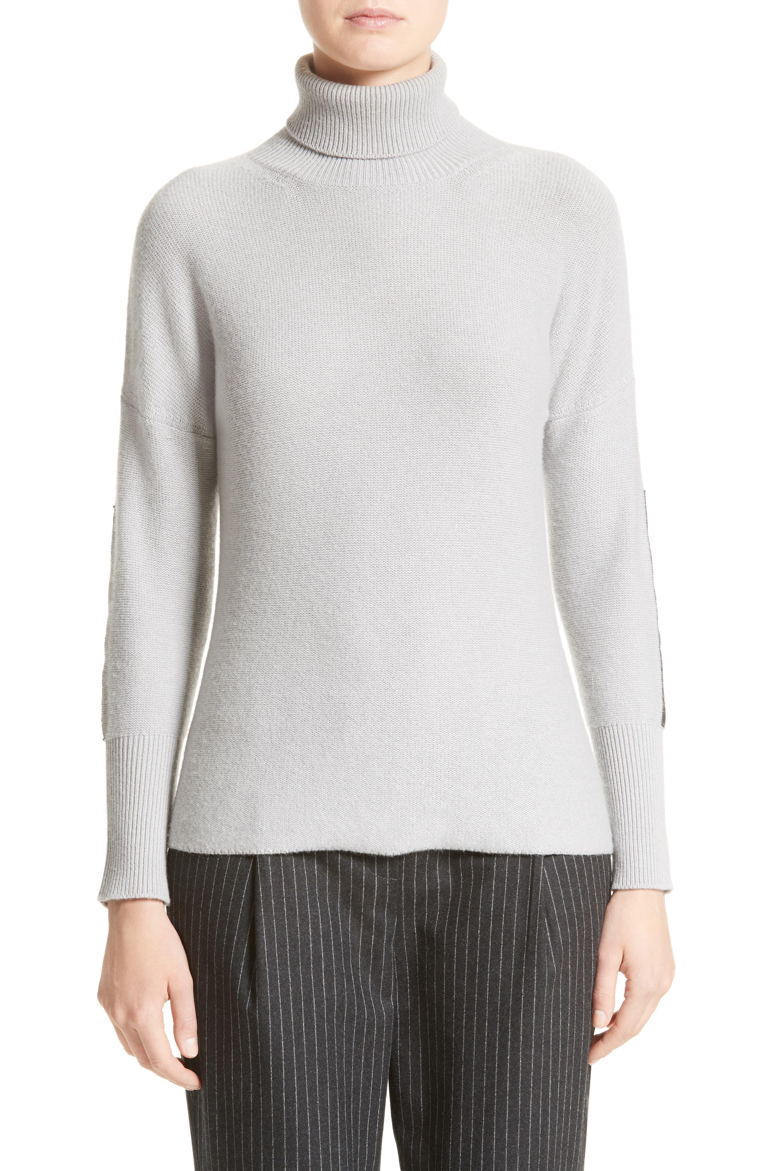 Wool, Silk & Cashmere Knit Turtleneck,                             Main thumbnail 1, color,                             050