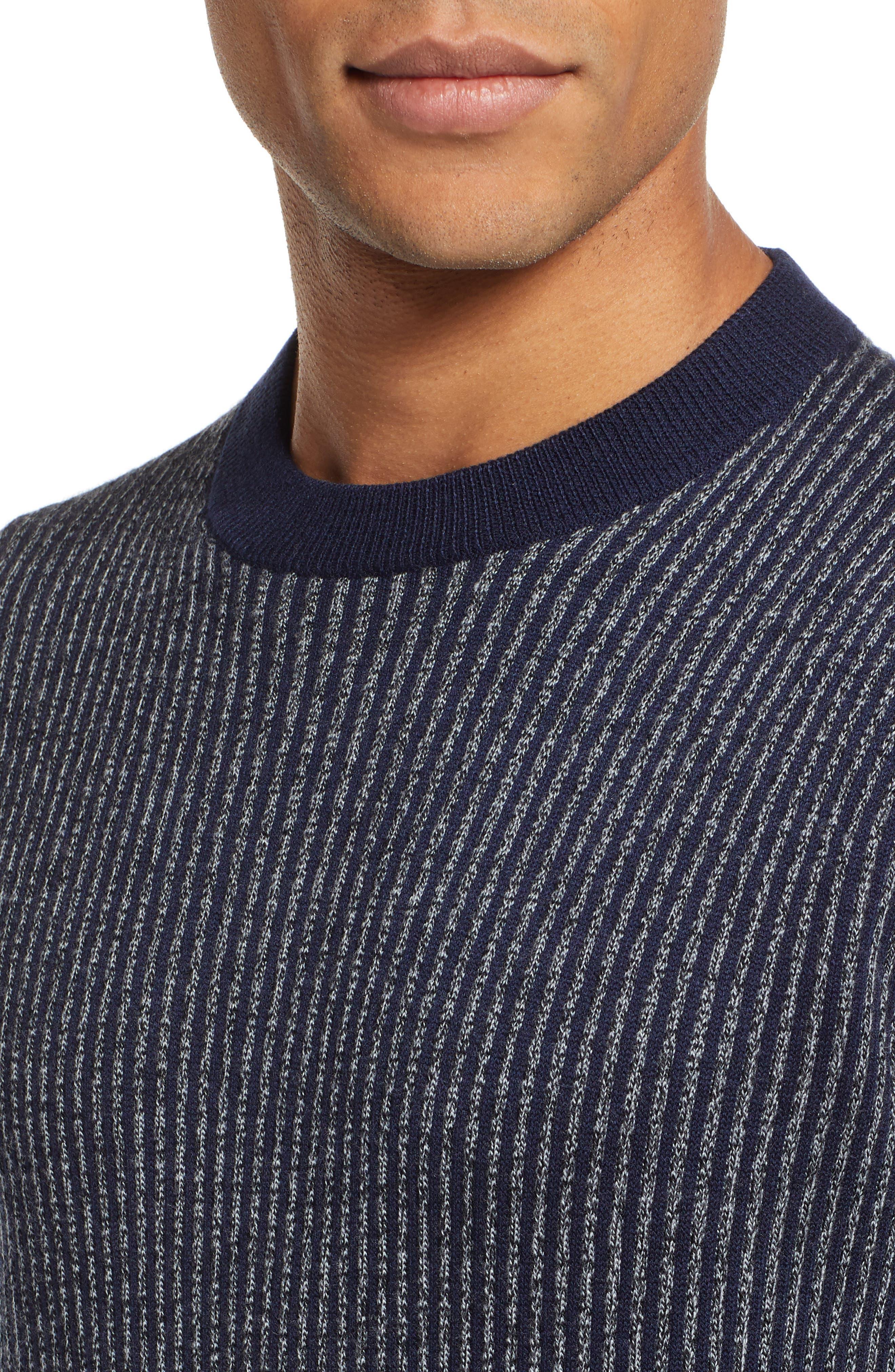 Jinxitt Crewneck Sweater,                             Alternate thumbnail 4, color,                             NAVY