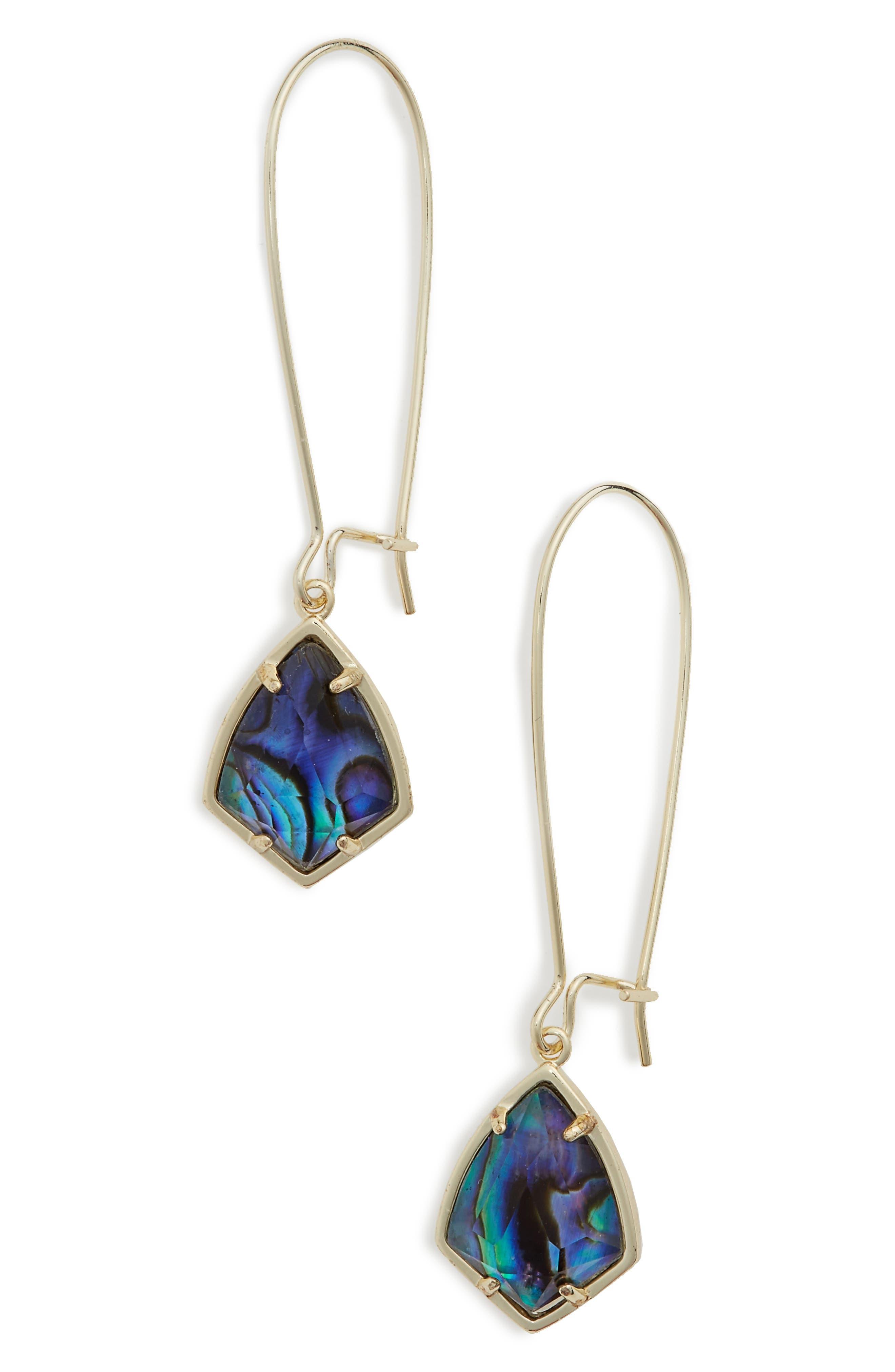 'Carrine' Semiprecious Stone Drop Earrings,                             Alternate thumbnail 22, color,