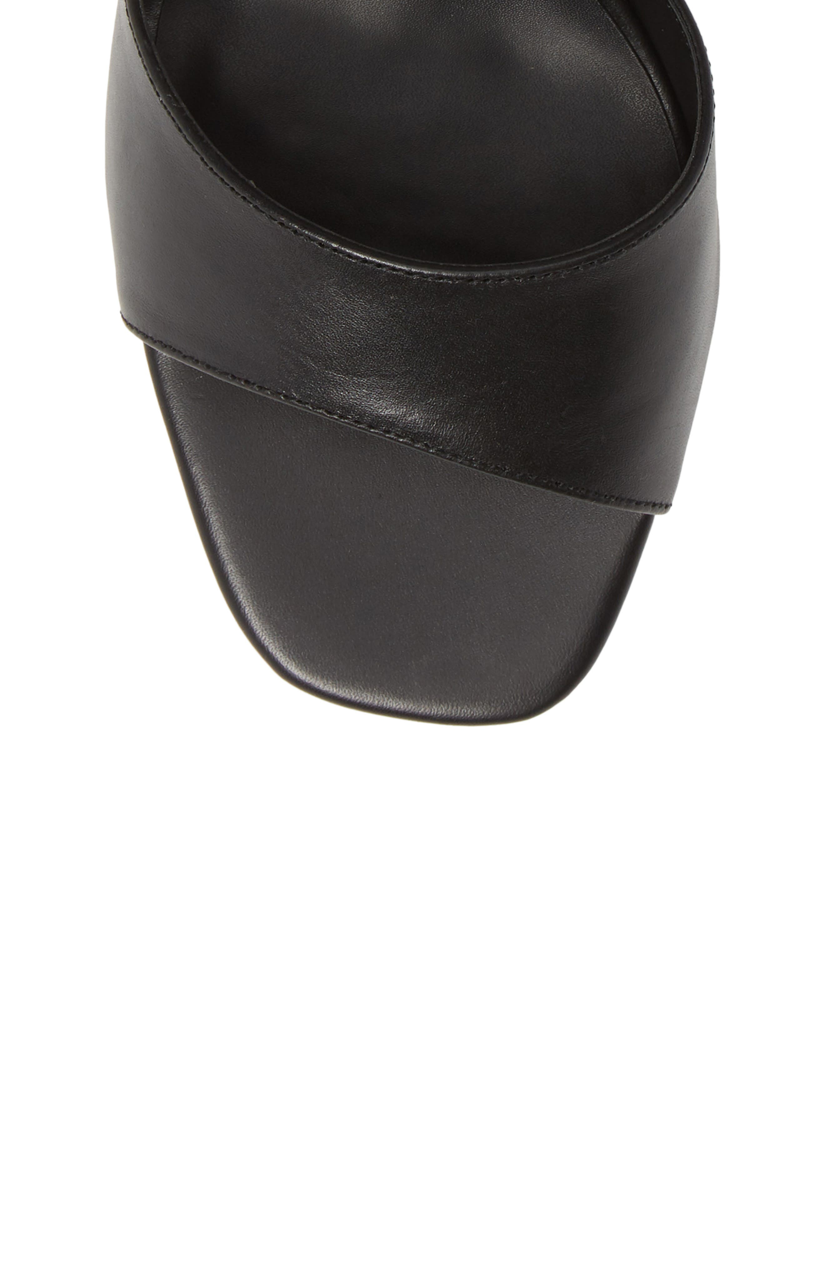 Ruffian Wraparound Sandal,                             Alternate thumbnail 5, color,                             BLACK COMO