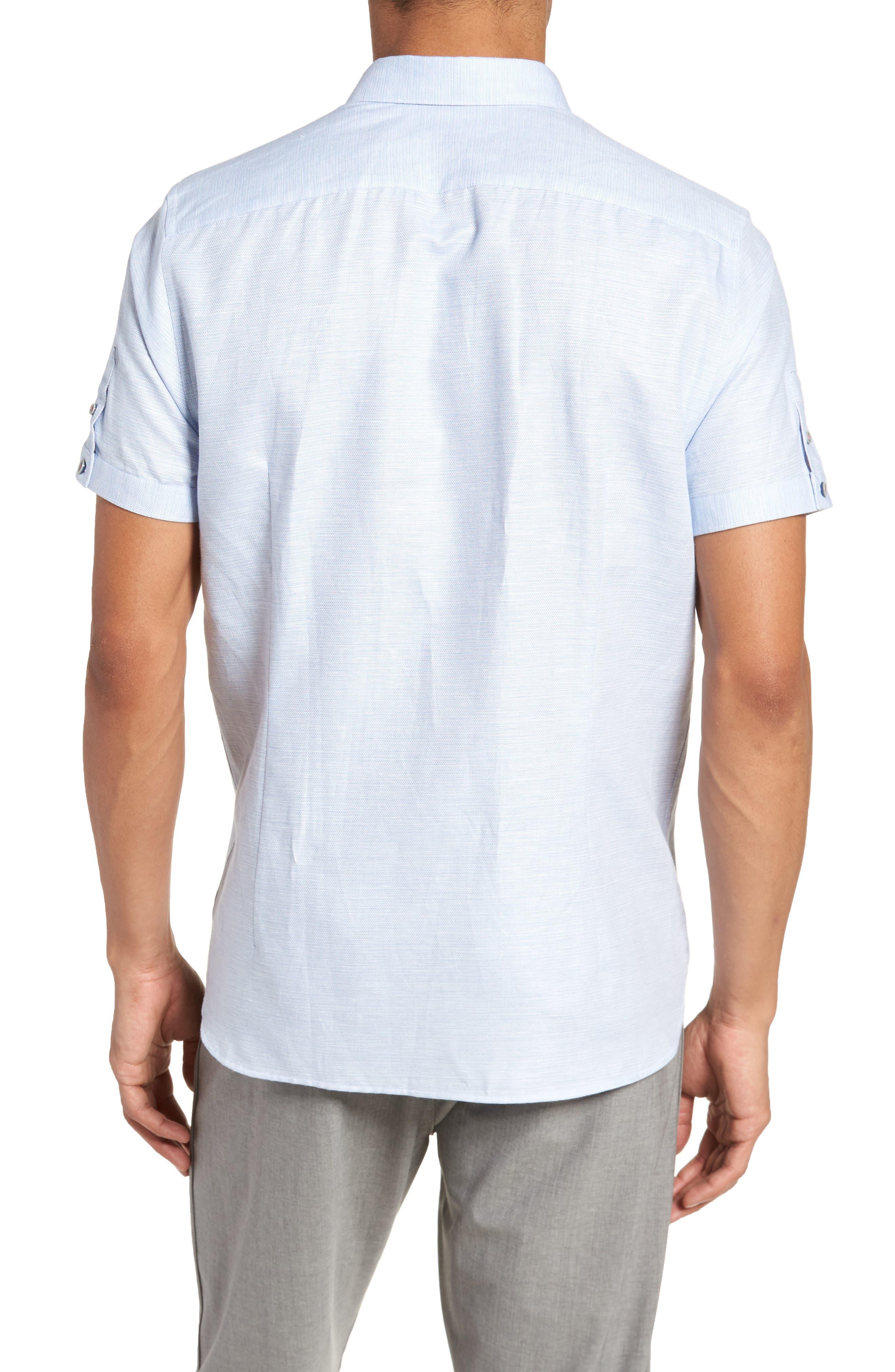 Slim Fit Sport Shirt,                             Alternate thumbnail 9, color,