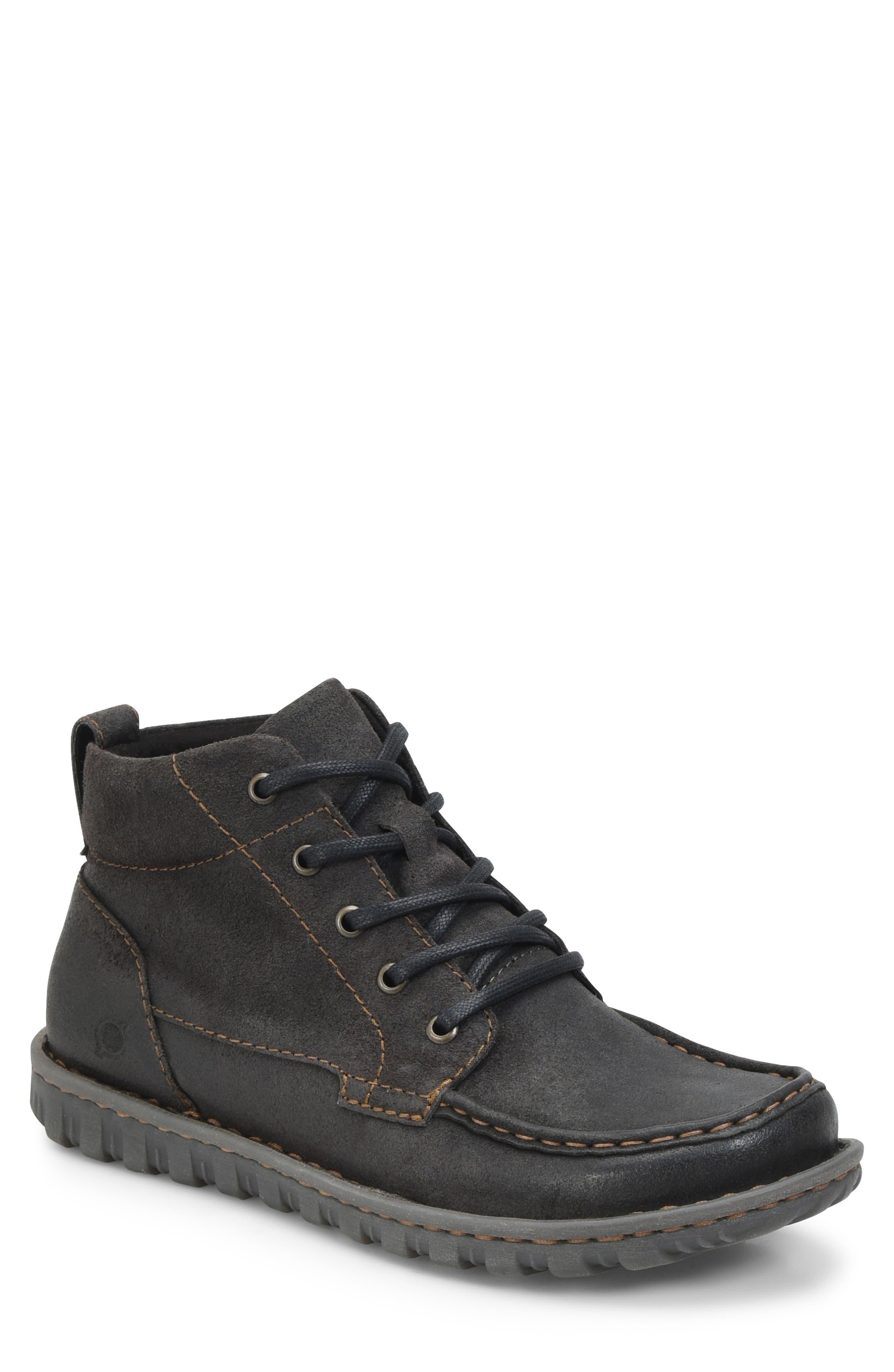 Gilden Moc Toe Boot,                         Main,                         color, DARK GREY LEATHER