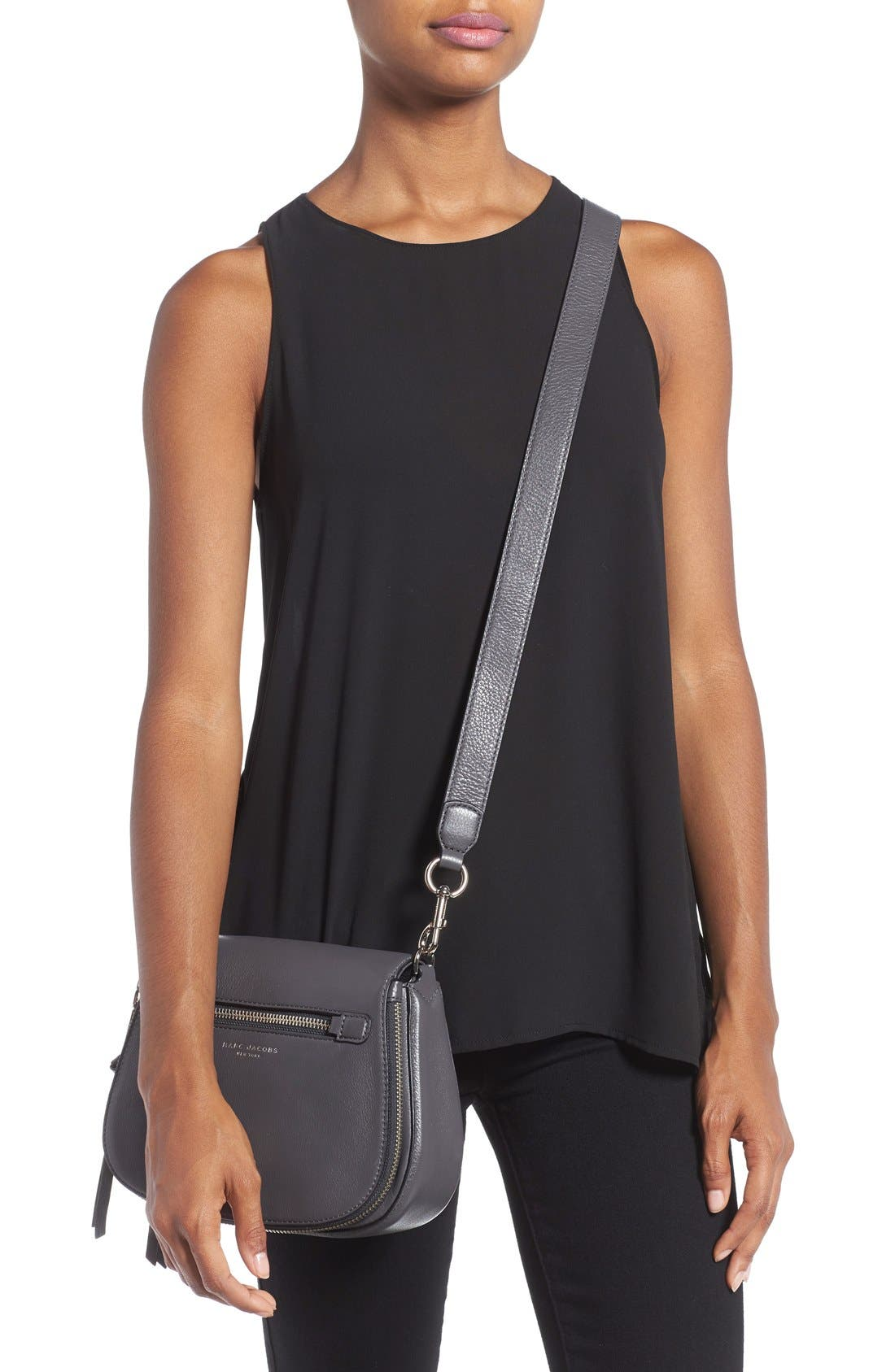 Small Recruit Nomad Pebbled Leather Crossbody Bag,                             Alternate thumbnail 32, color,