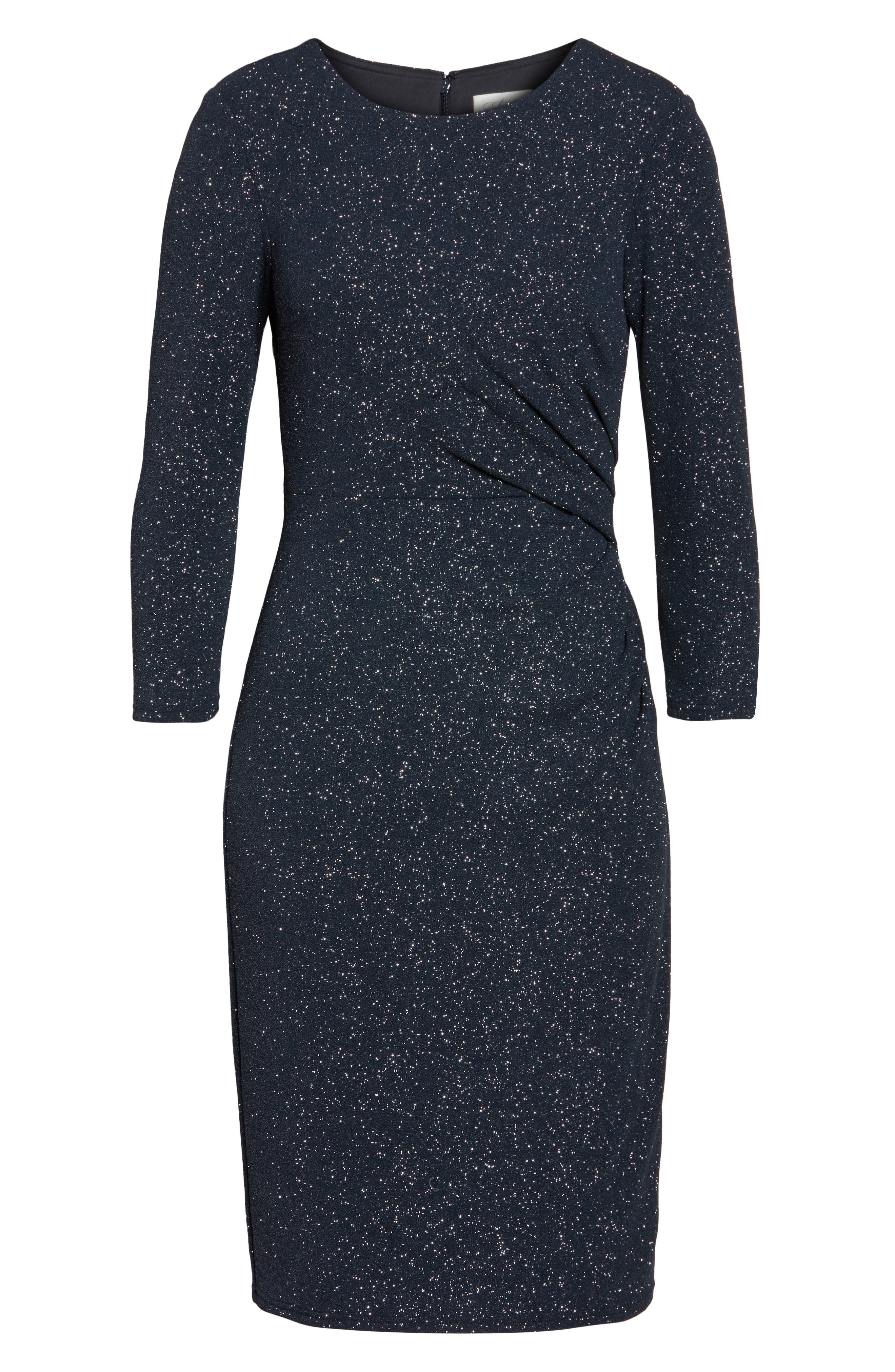 Gathered Sheath Dress,                             Alternate thumbnail 6, color,                             030
