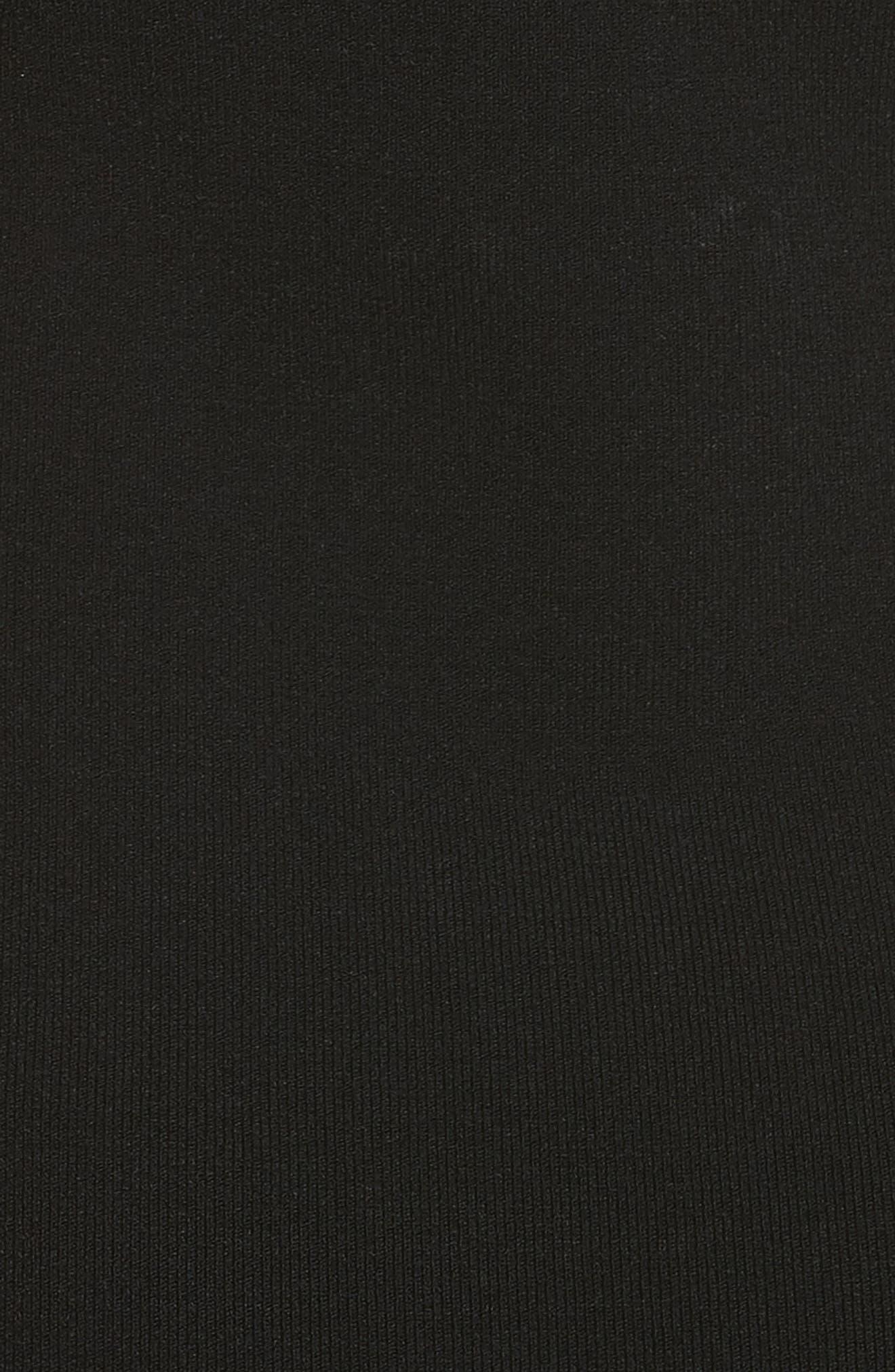 Sliced One-Shoulder Sheath Dress,                             Alternate thumbnail 5, color,                             001