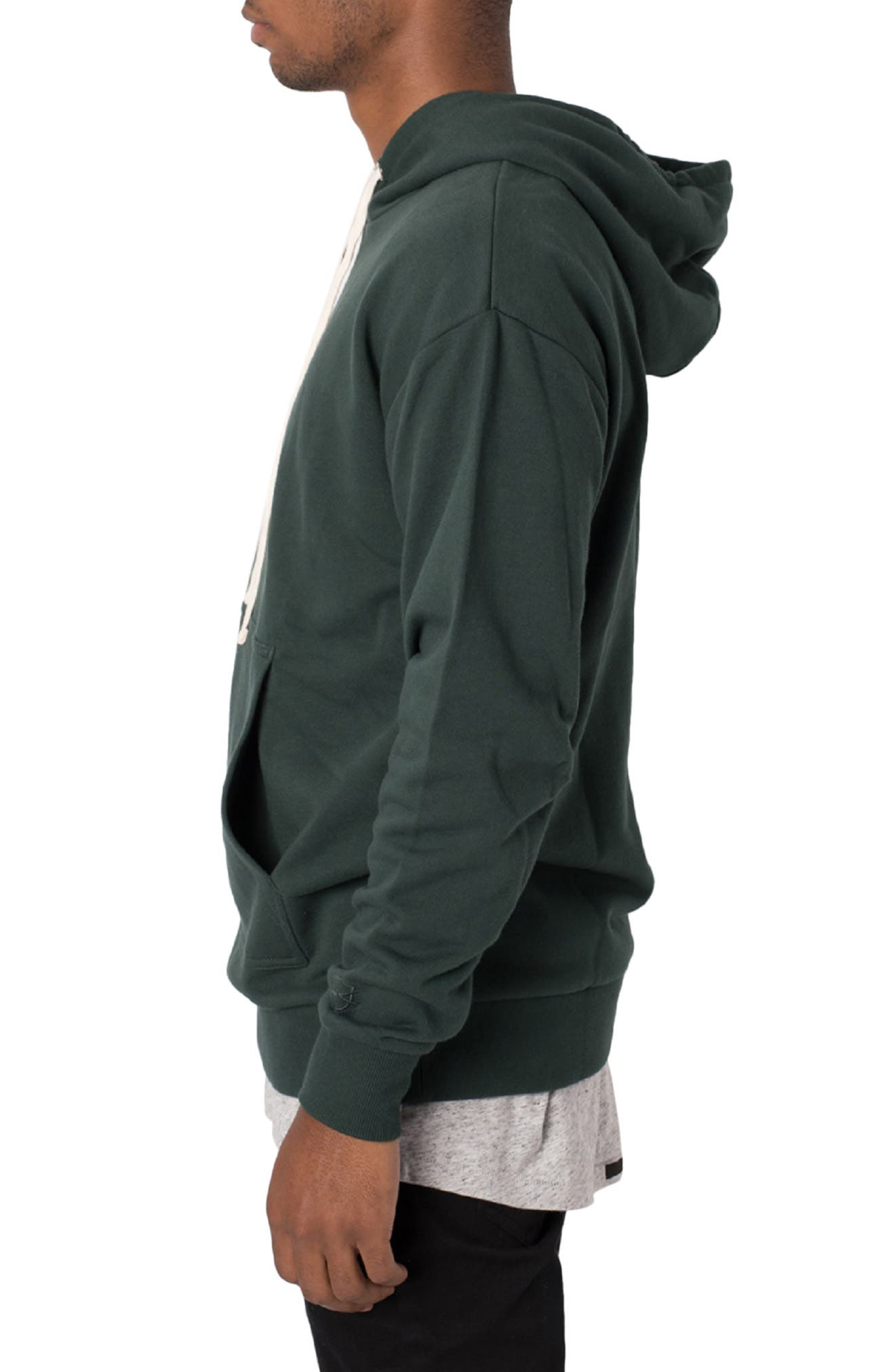 ZANEROBE,                             Flintlock Longline Hoodie,                             Alternate thumbnail 3, color,                             FOREST