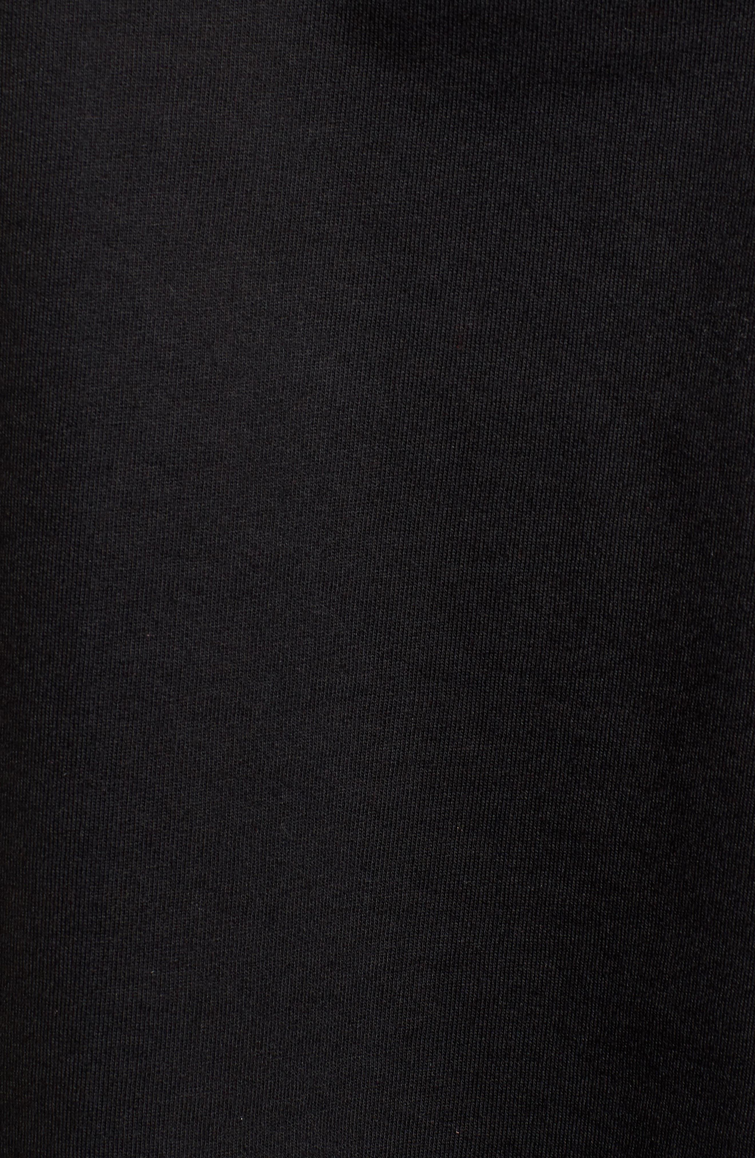 Carlisle Embroidered Sweatshirt,                             Alternate thumbnail 5, color,                             BLACK