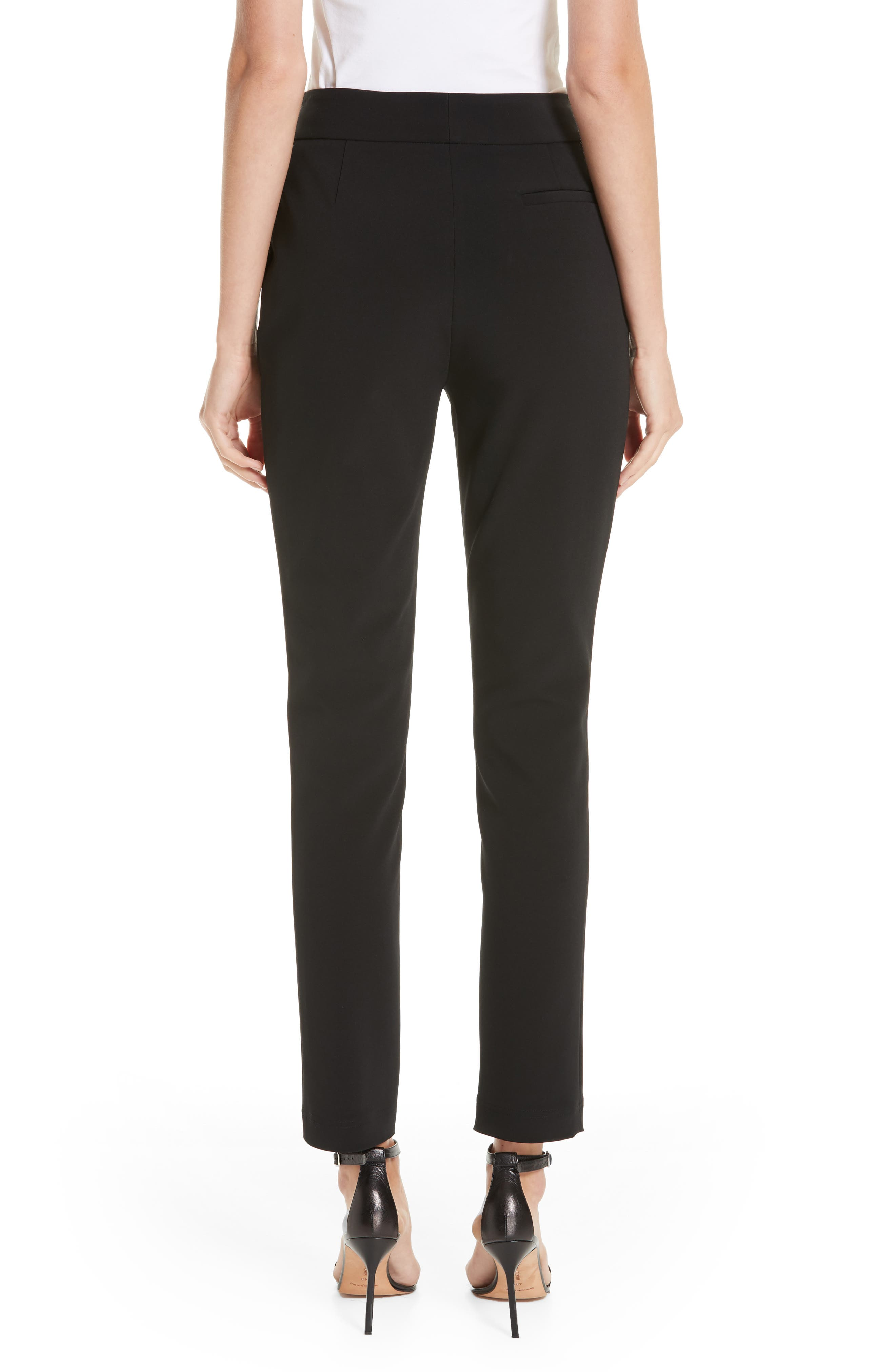 Straight Leg Trousers,                             Alternate thumbnail 2, color,                             BLACK