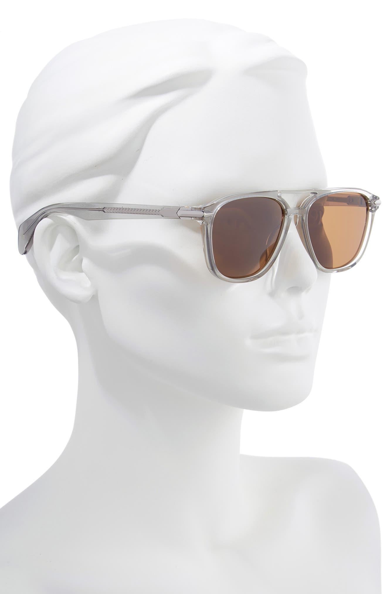 54mm Aviator Sunglasses,                             Alternate thumbnail 2, color,                             GREY