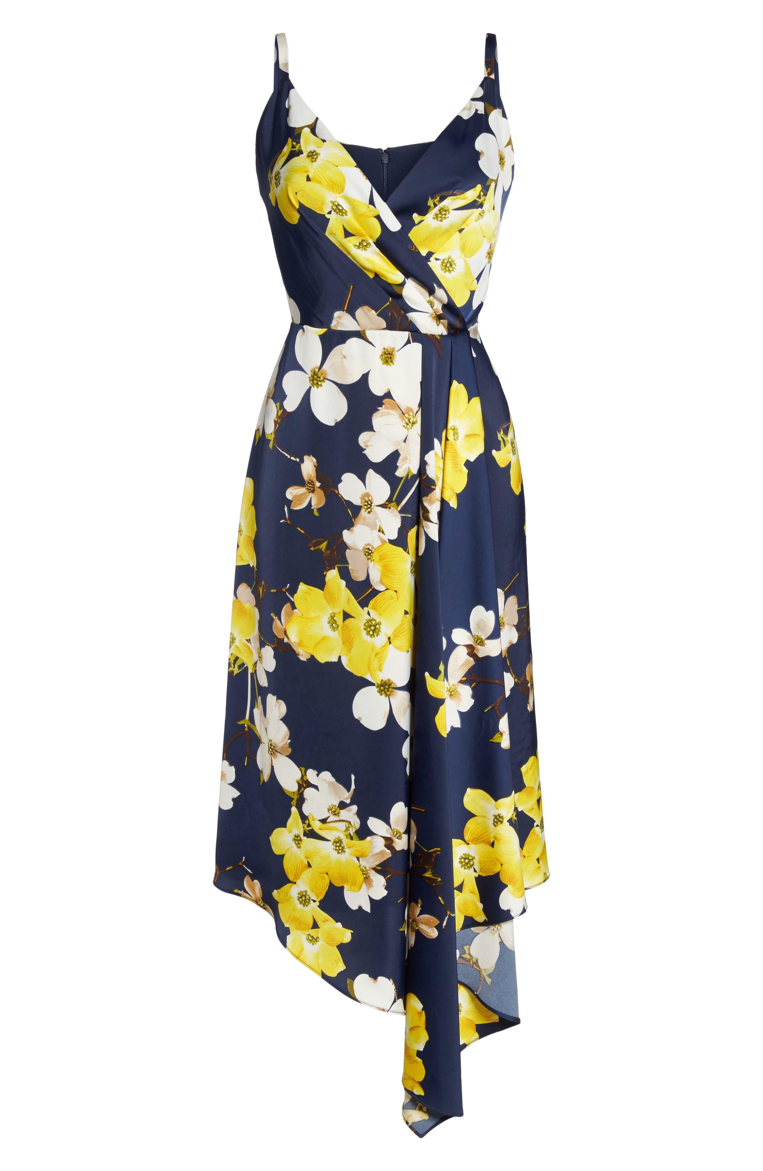 Asymmetrical Midi Dress,                             Alternate thumbnail 6, color,                             400