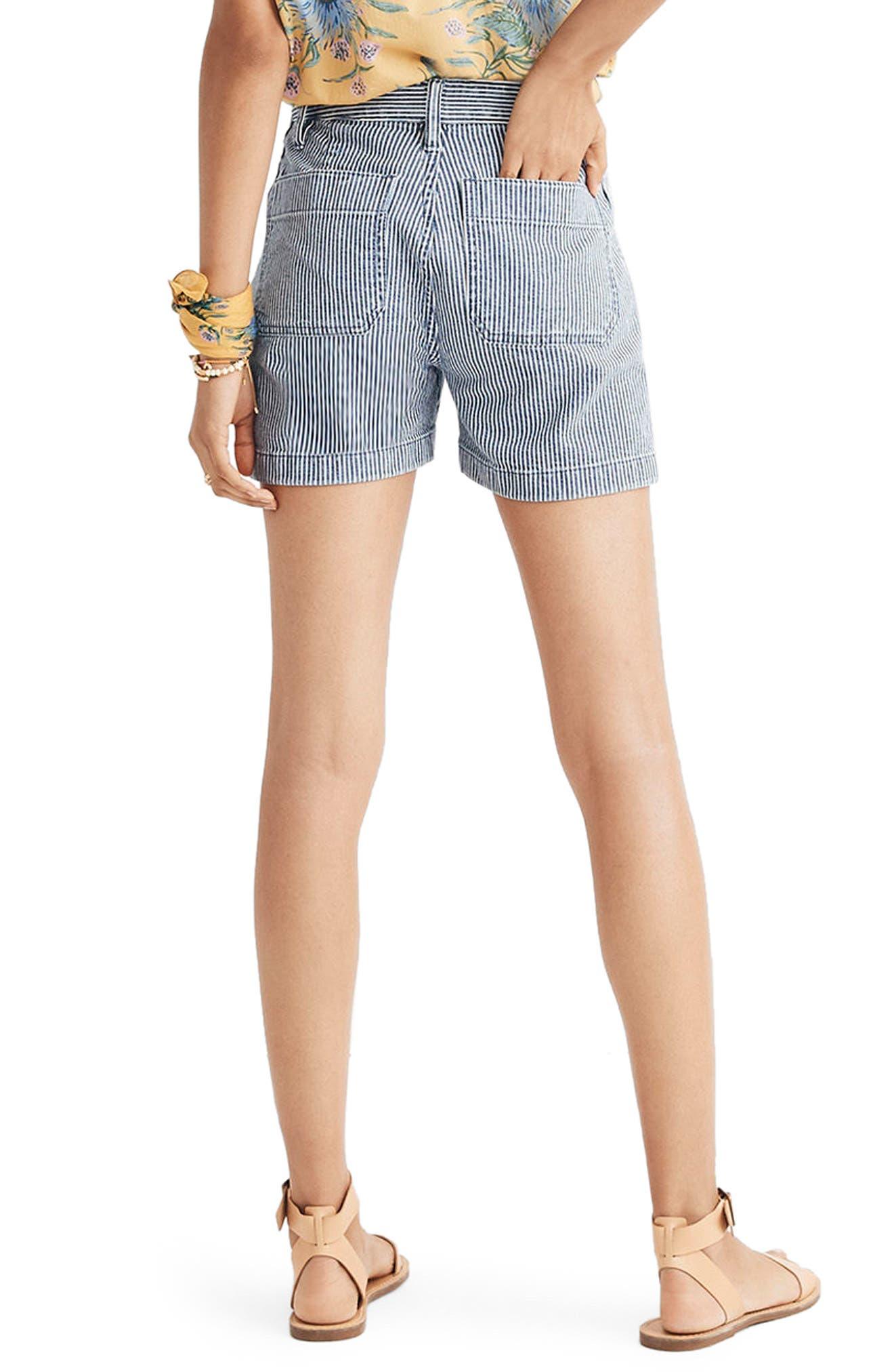 Emmett Stripe Denim Shorts,                             Alternate thumbnail 2, color,                             400