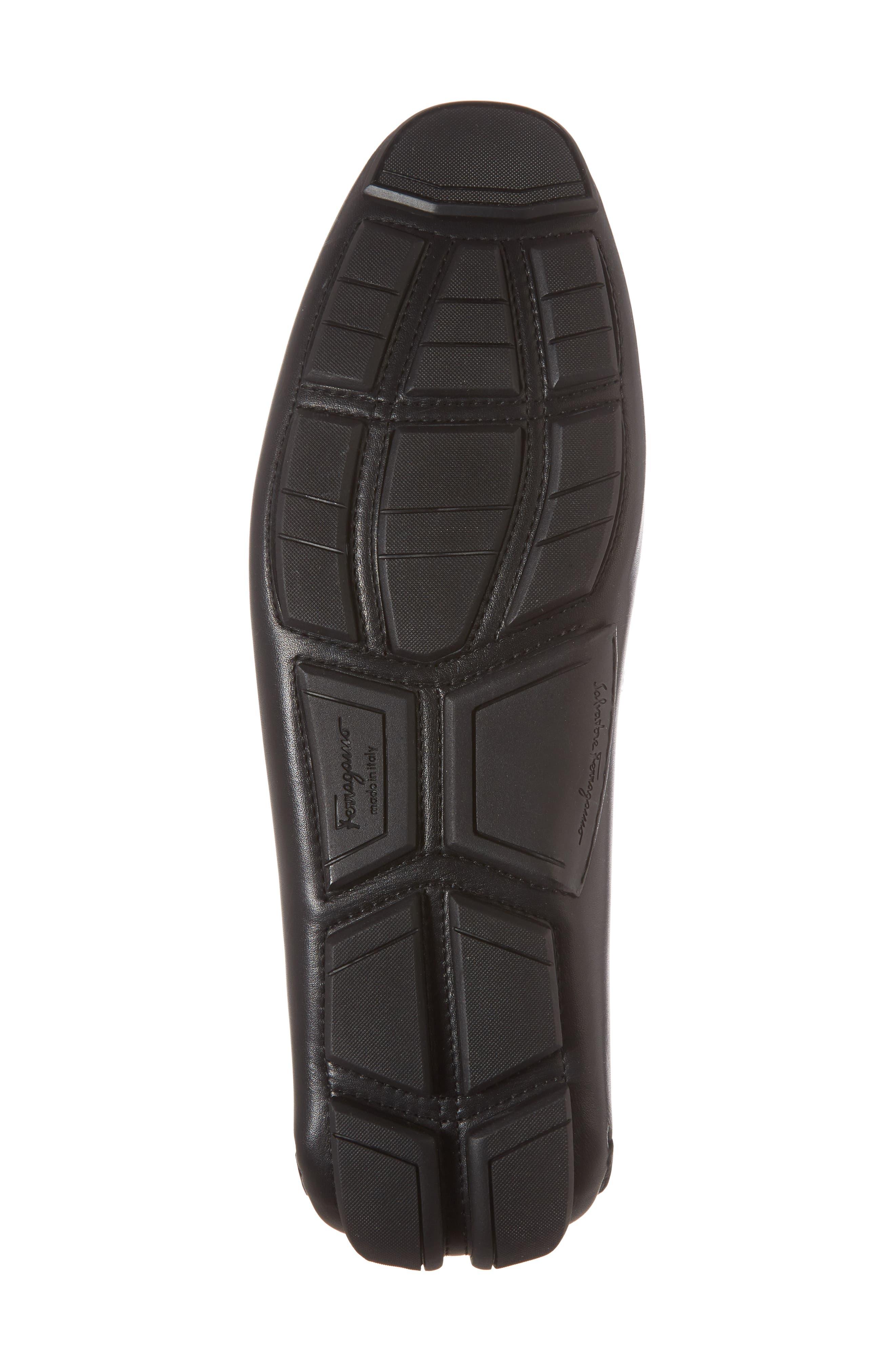 Sardegna Driving Shoe,                             Alternate thumbnail 6, color,                             BLACK LEATHER