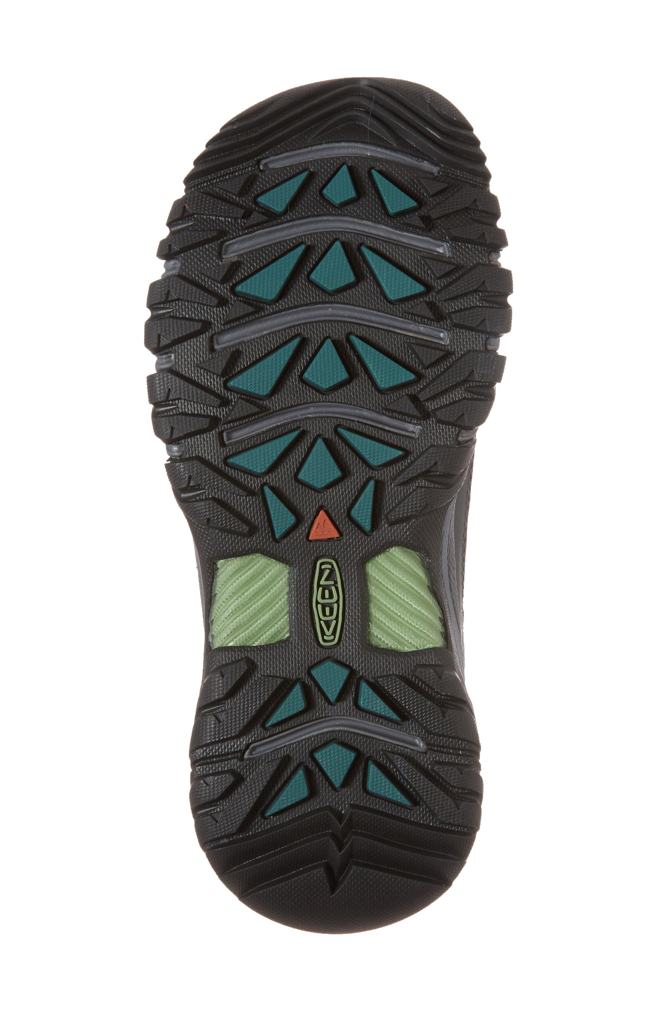 Targhee EXP Mid Waterproof Hiking Shoe,                             Alternate thumbnail 6, color,                             STEEL GREY/ BASIL