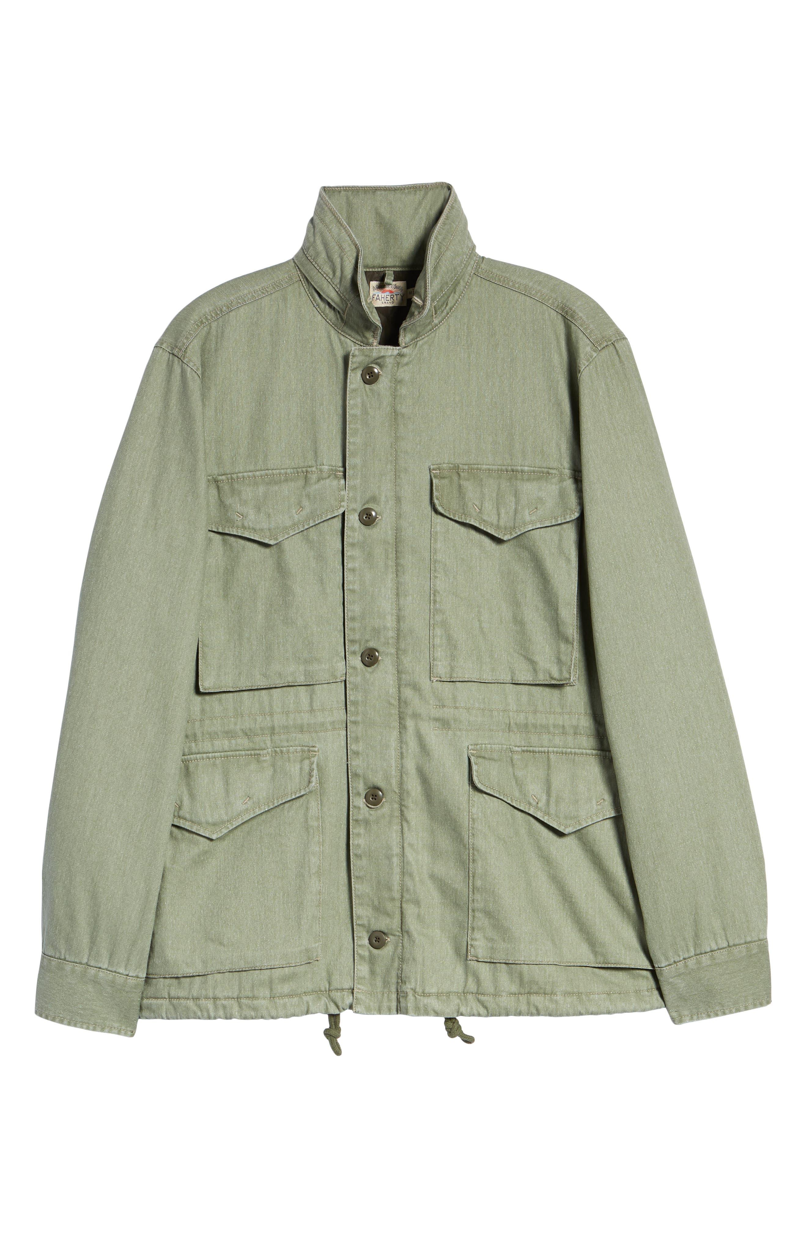 Vintage M-65 Jacket,                             Alternate thumbnail 5, color,                             OLIVE