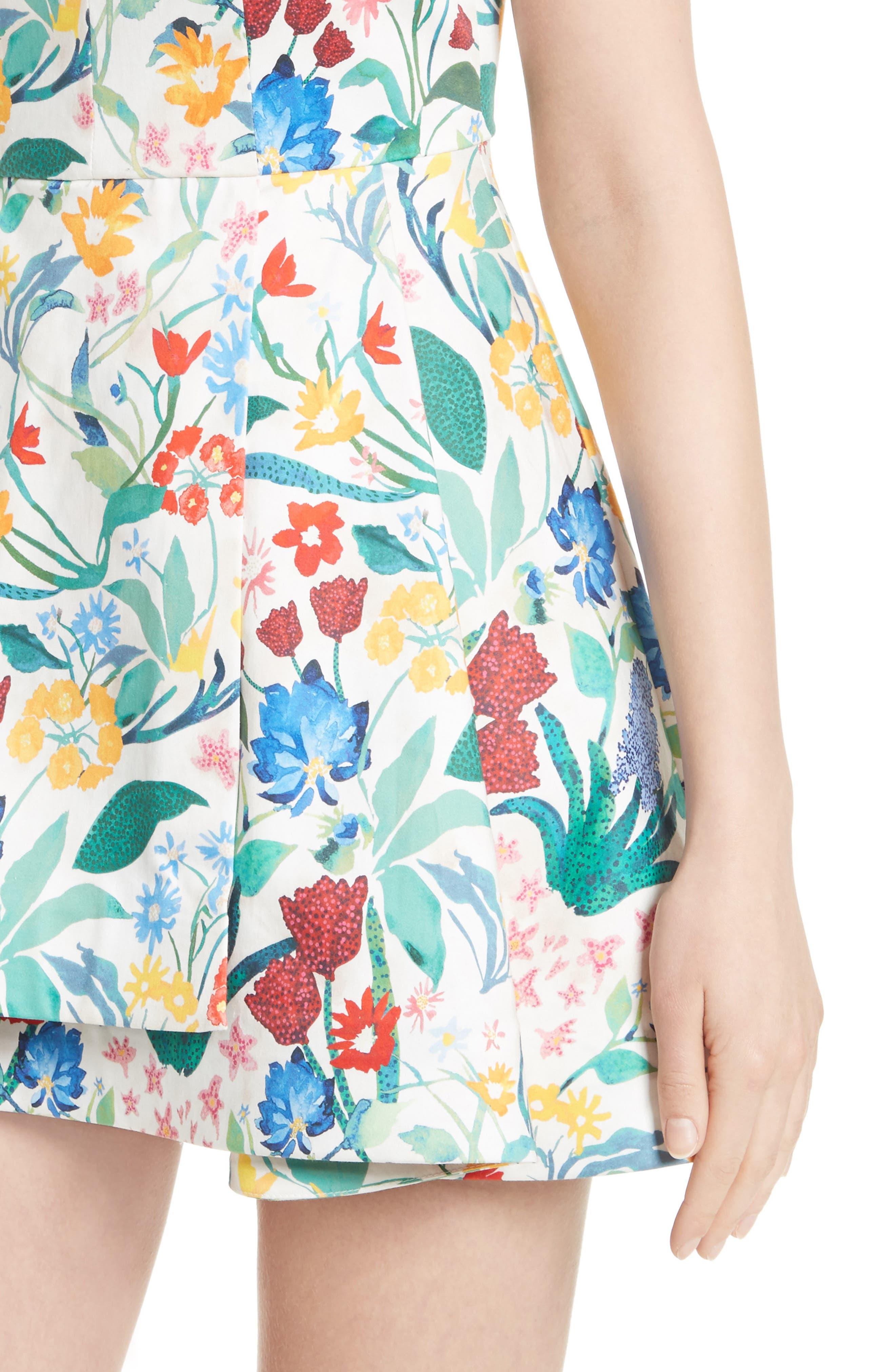 Tanner Floral Asymmetrical Dress,                             Alternate thumbnail 2, color,                             900