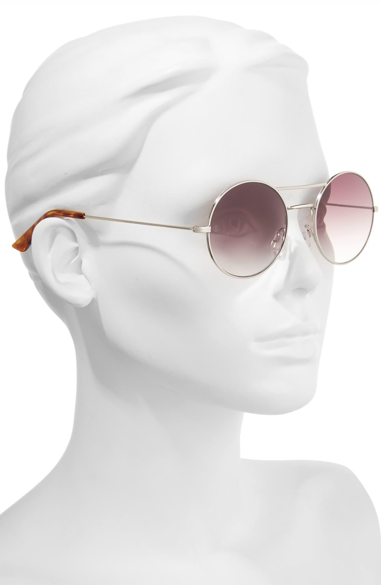 D'BLANC The End 52mm Gradient Round Sunglasses,                             Alternate thumbnail 2, color,                             040