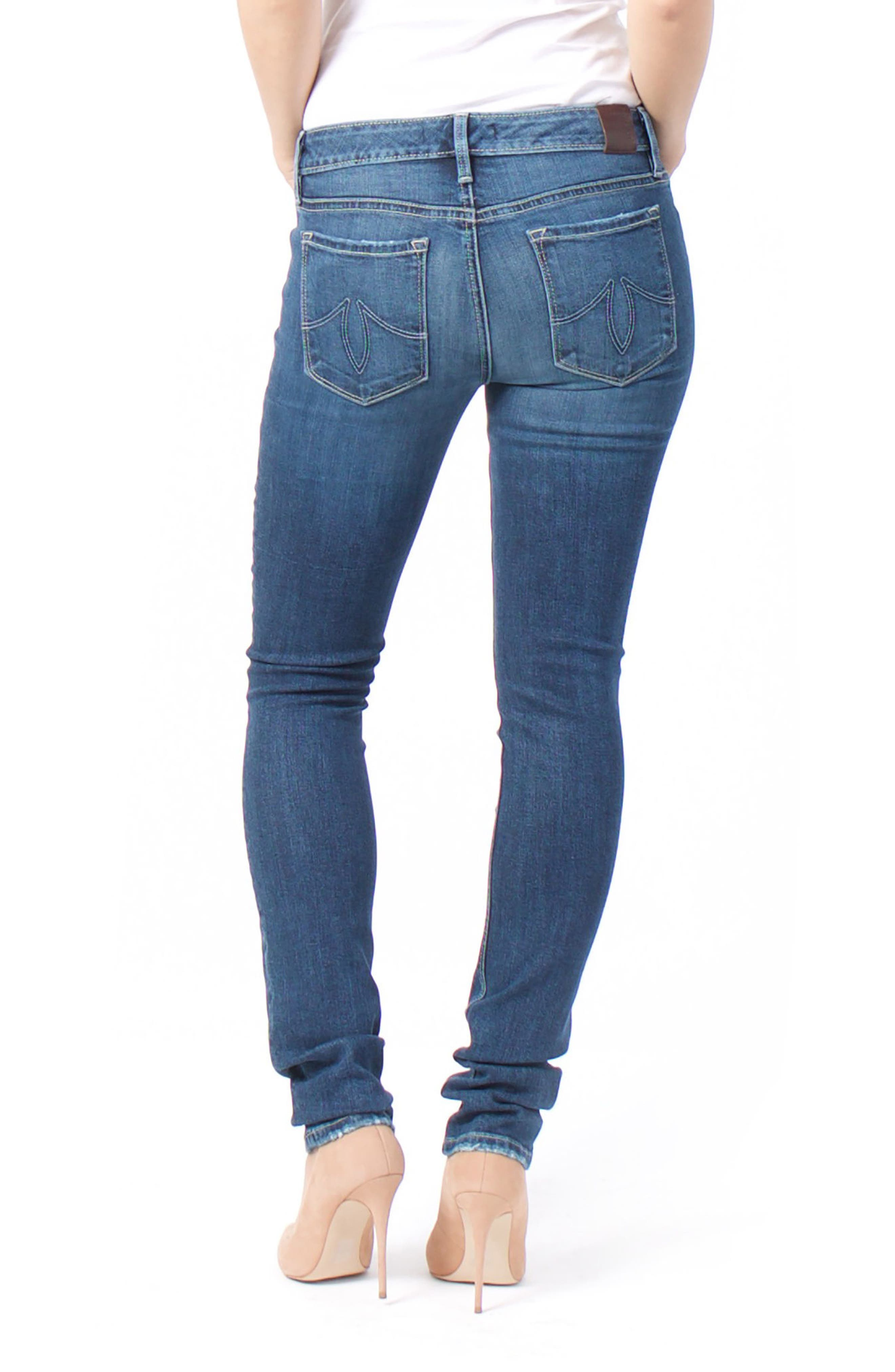 Lily Stretch Skinny Jeans,                             Alternate thumbnail 7, color,