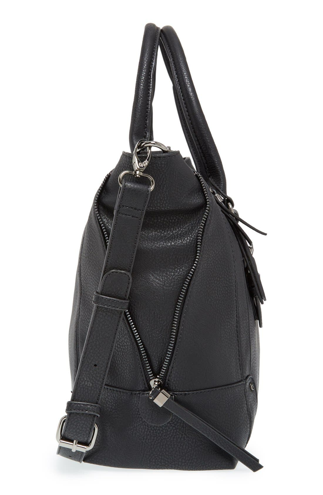 'Susan' Winged Faux Leather Tote,                             Alternate thumbnail 35, color,