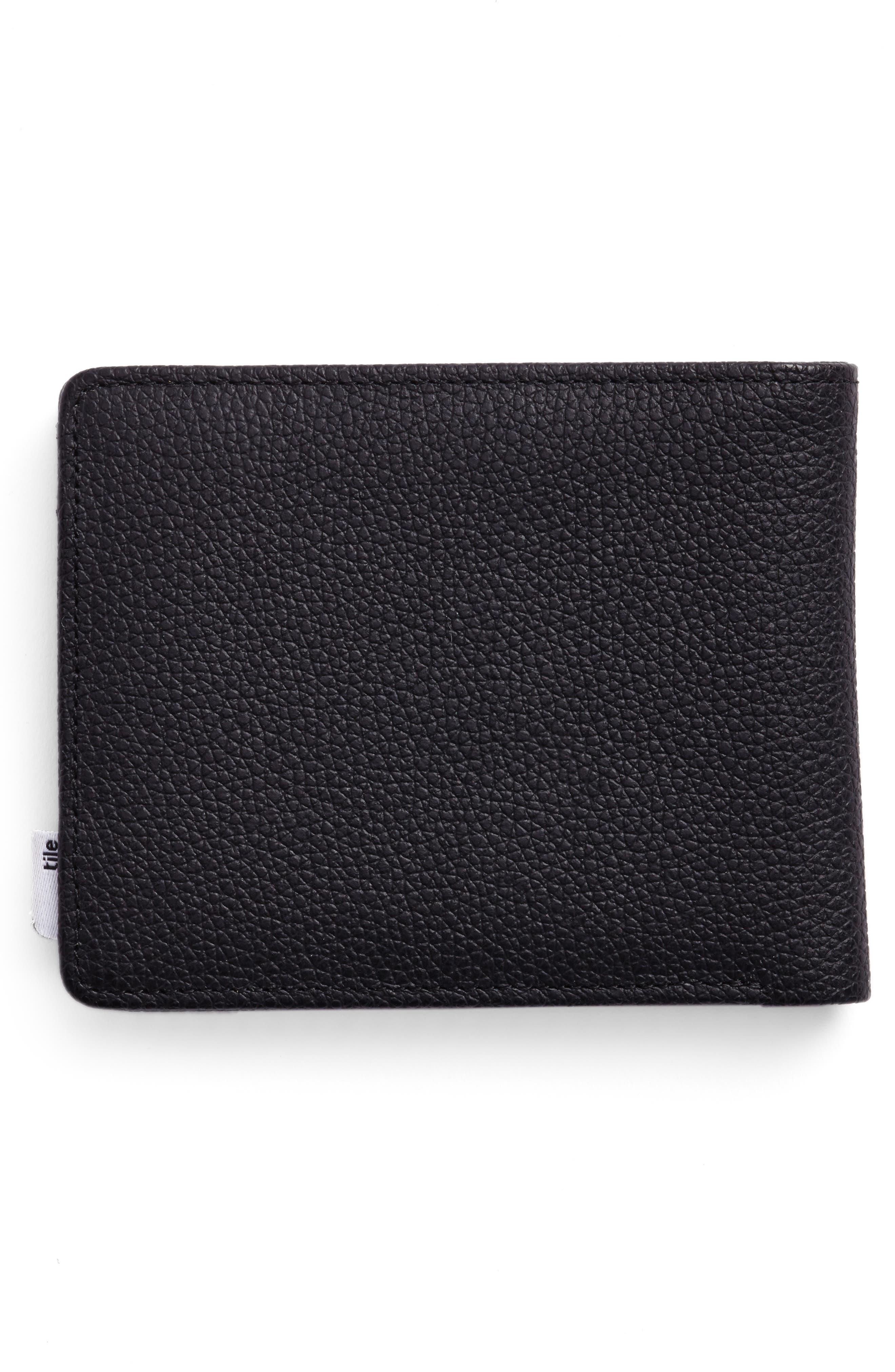 Tile Roy Leather Wallet,                             Alternate thumbnail 3, color,                             001