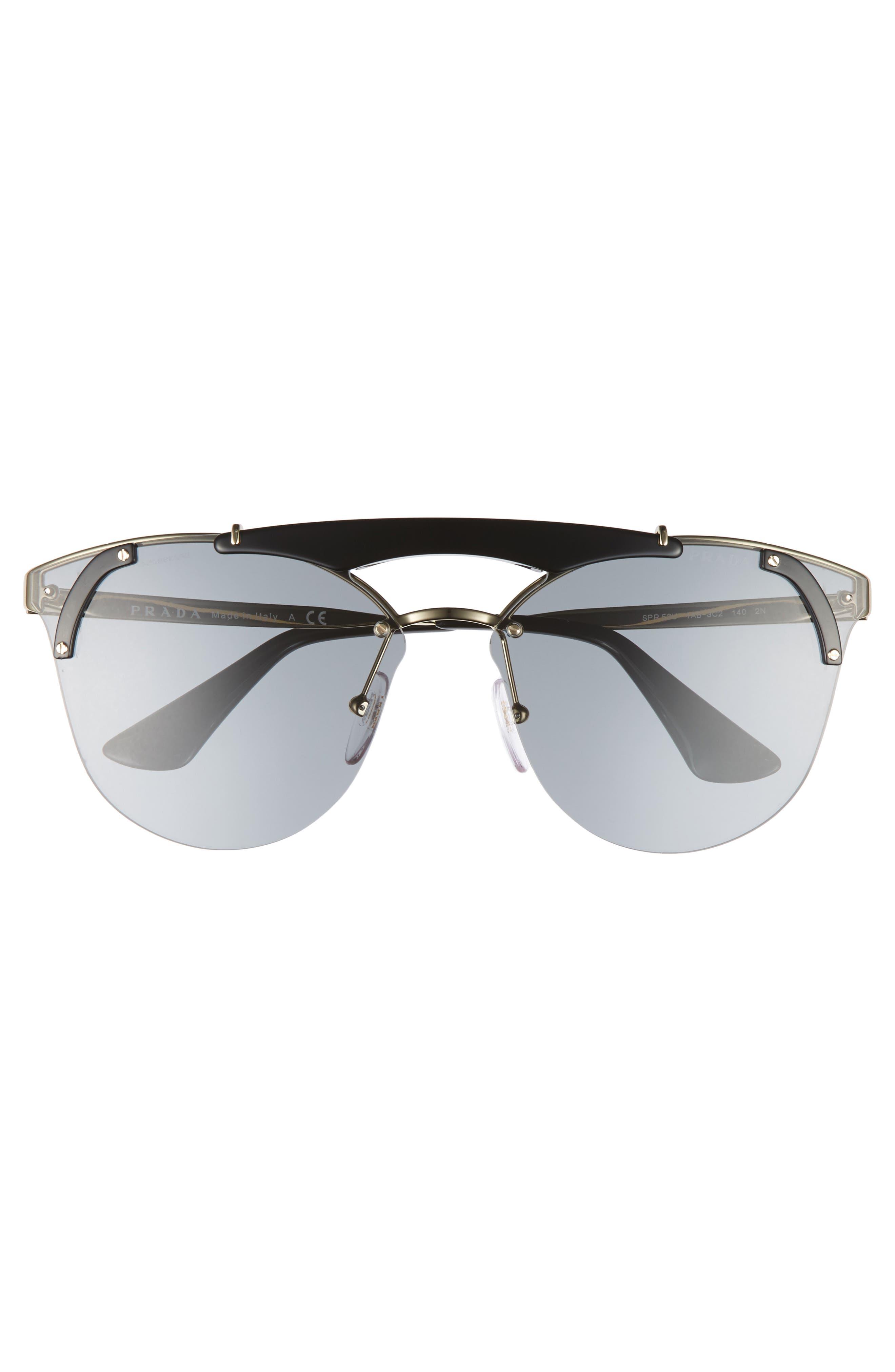 53mm Round Sunglasses,                             Alternate thumbnail 4, color,                             710