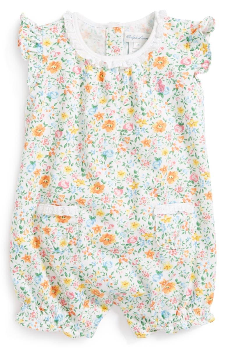 cc53f89f408f Ralph Lauren Floral Print Bubble Romper (Baby Girls)
